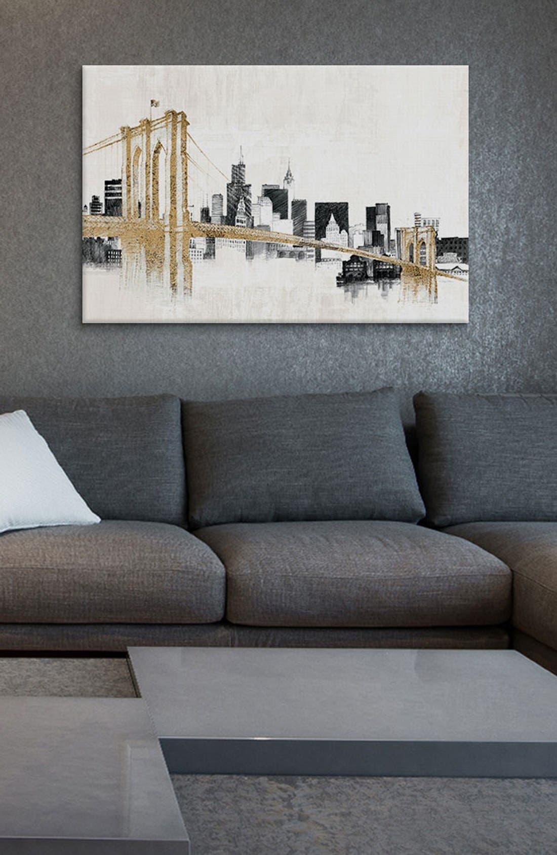 Alternate Image 2  - iCanvas 'Skyline Crossing' Giclée Print Canvas Art