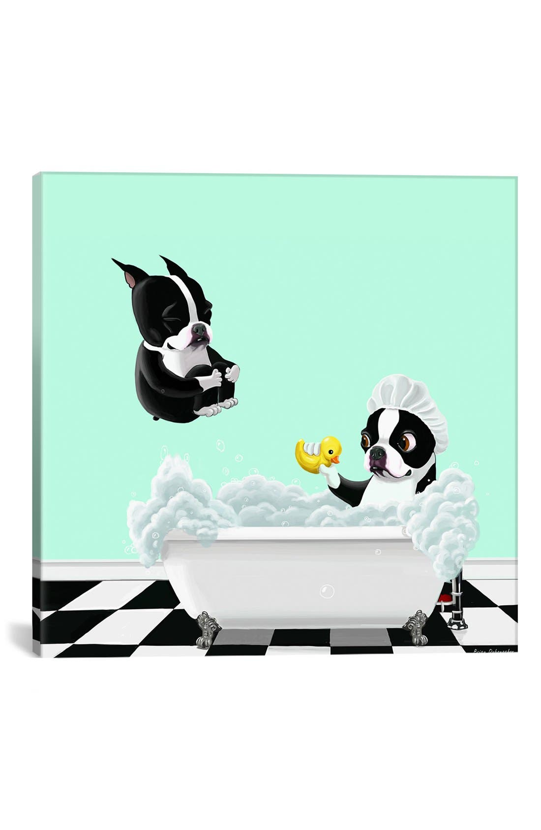 Alternate Image 1 Selected - iCanvas 'Bath Tub - Brian Rubenacker' Giclée Print Canvas Art