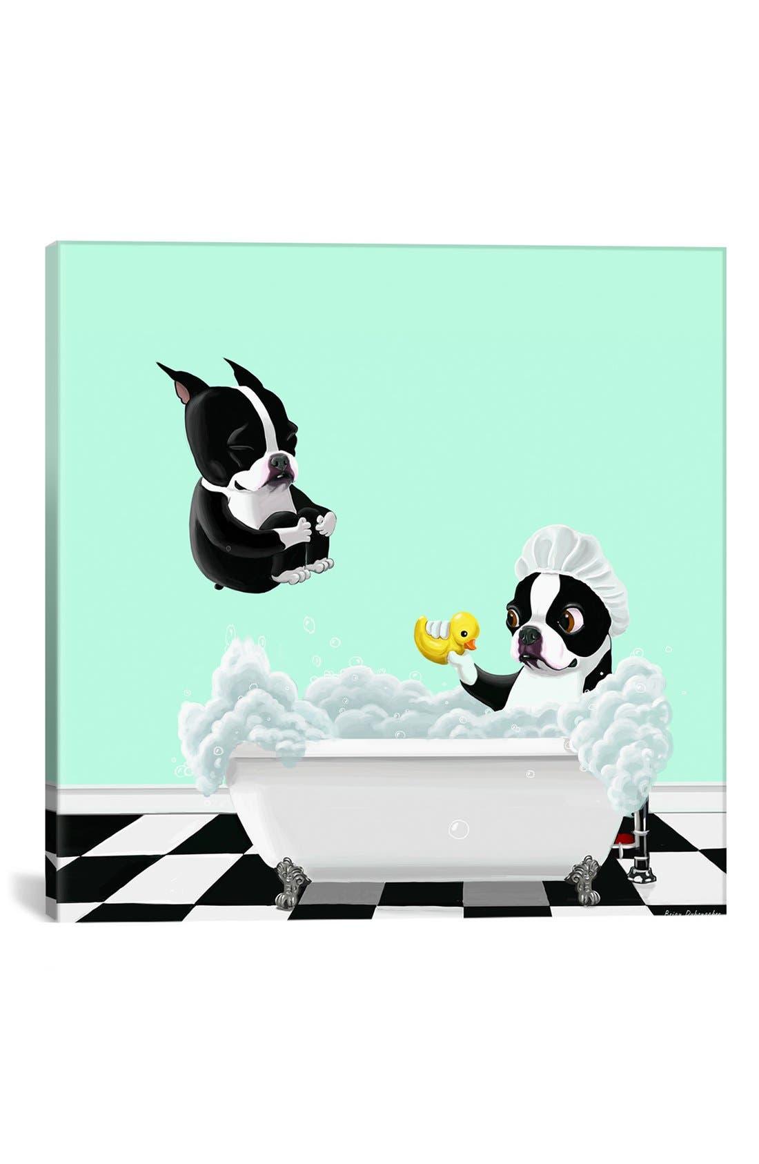 iCanvas 'Bath Tub - Brian Rubenacker' Giclée Print Canvas Art