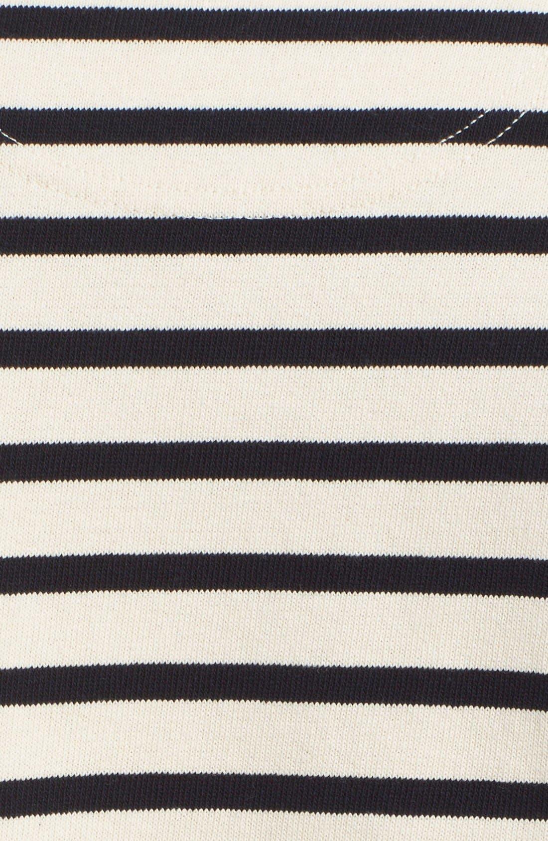 'Godtfred' Stripe Long Sleeve T-Shirt,                             Alternate thumbnail 5, color,                             Ecru Navy