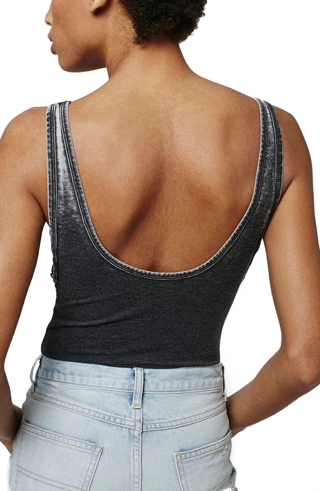 Alternate Image 3  - Topshop Acid Wash Bodysuit