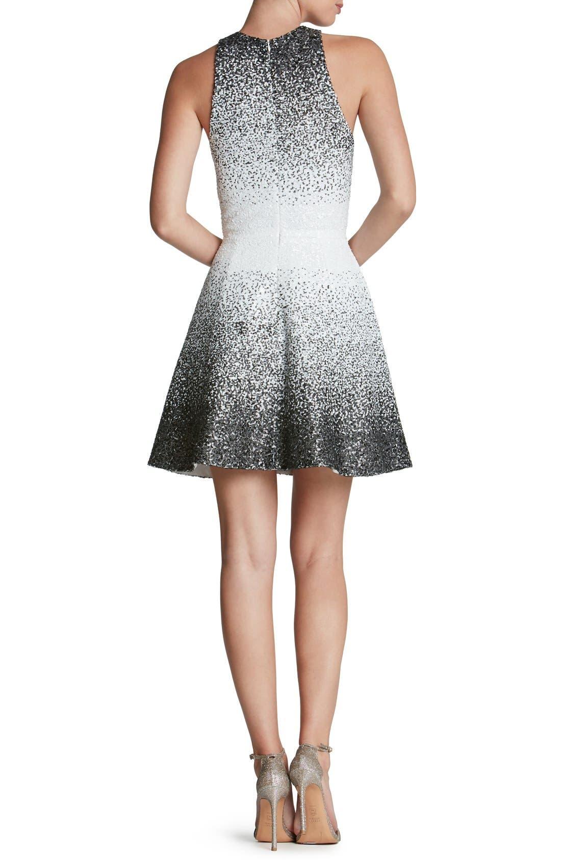 Alternate Image 2  - Dress the Population 'Andi' Sequin Fit & Flare Minidress