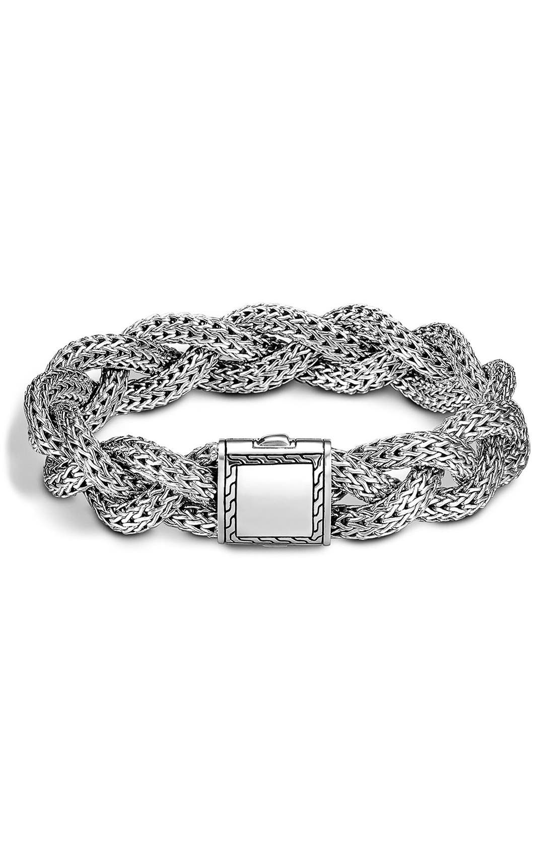 Alternate Image 1 Selected - John Hardy 'Classic Chain' Medium Braided Bracelet