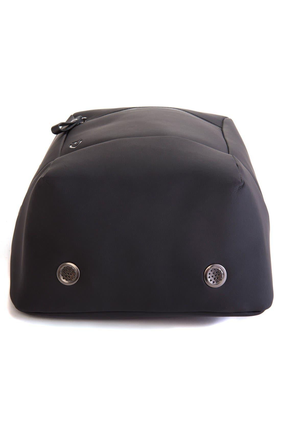 Pebbled Faux Leather Shoe Bag,                             Alternate thumbnail 5, color,                             Matte Black