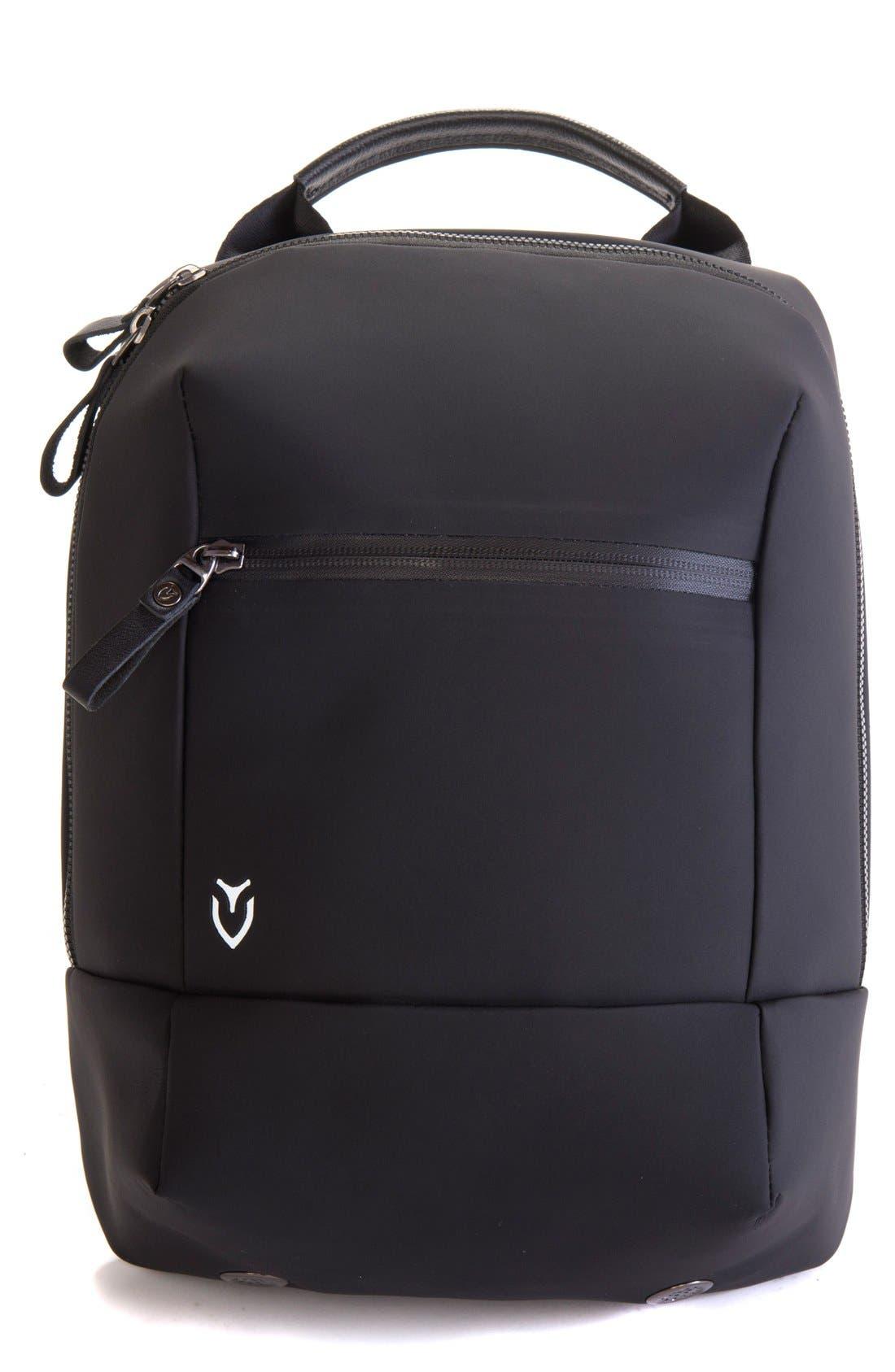 Pebbled Faux Leather Shoe Bag,                         Main,                         color, Matte Black