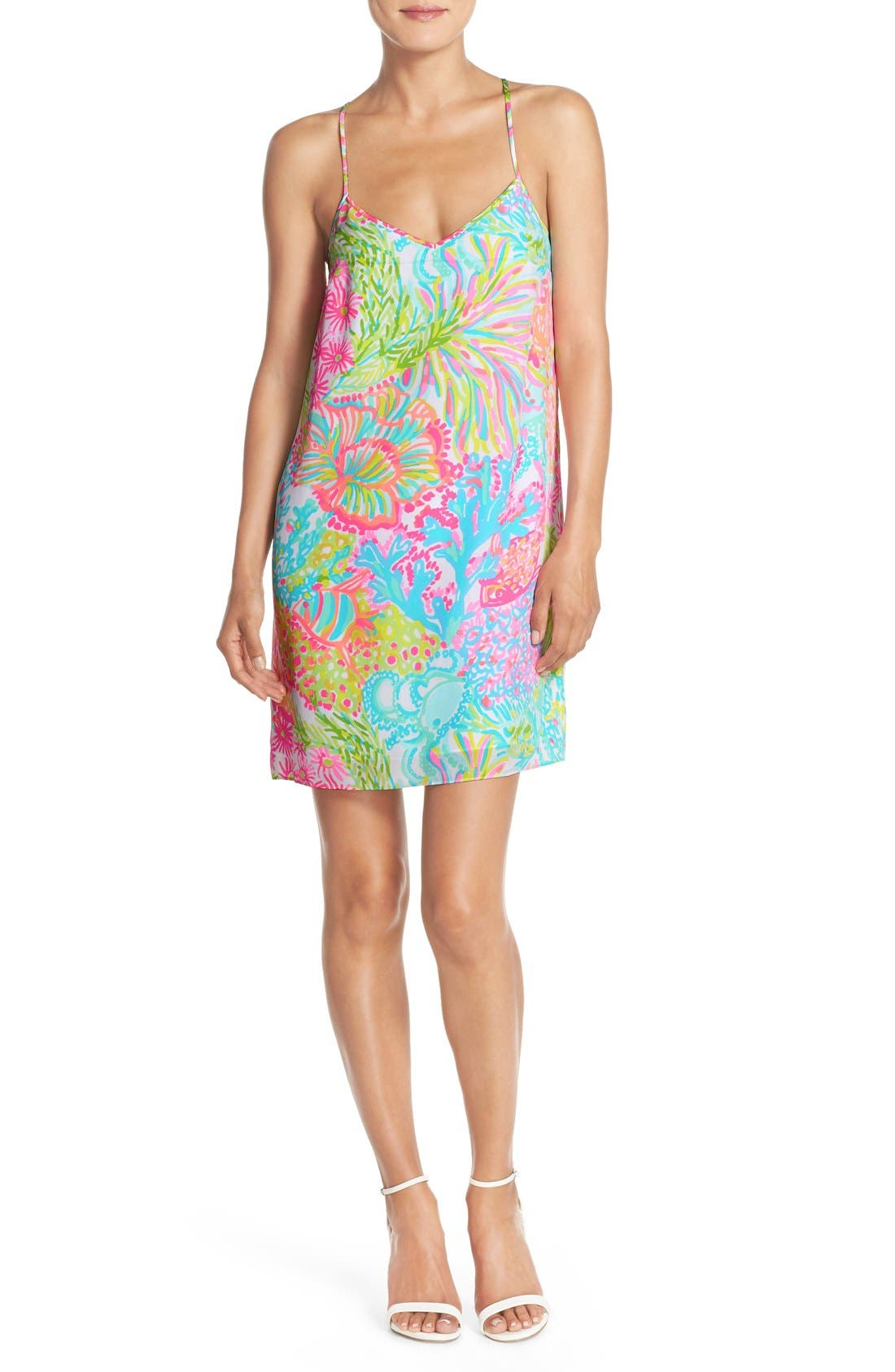 Alternate Image 1 Selected - Lilly Pulitzer® 'Dusk' Print Silk Slipdress