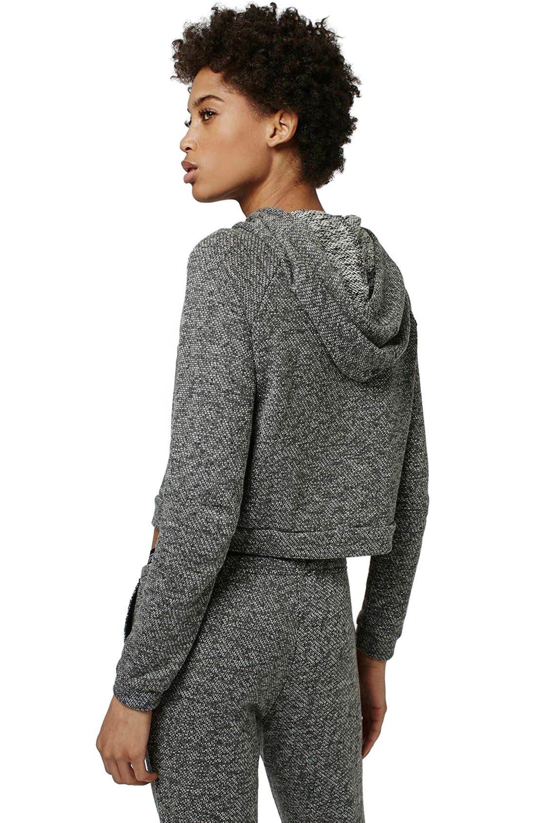Alternate Image 3  - Topshop Knit Crop Lounge Hoodie