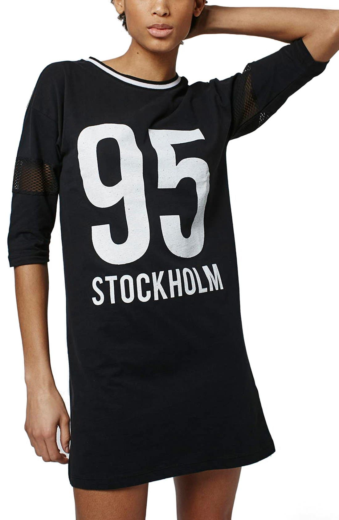 Alternate Image 1 Selected - Topshop 'Stockholm' T-Shirt Dress