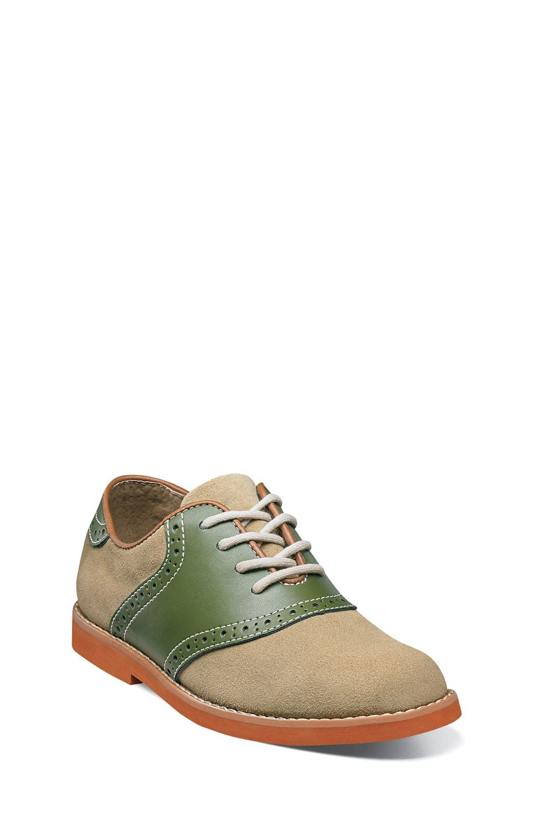 Alternate Image 1 Selected - Florsheim 'Kennett Jr.' Saddle Shoe (Toddler, Little Kid & Big Kid)