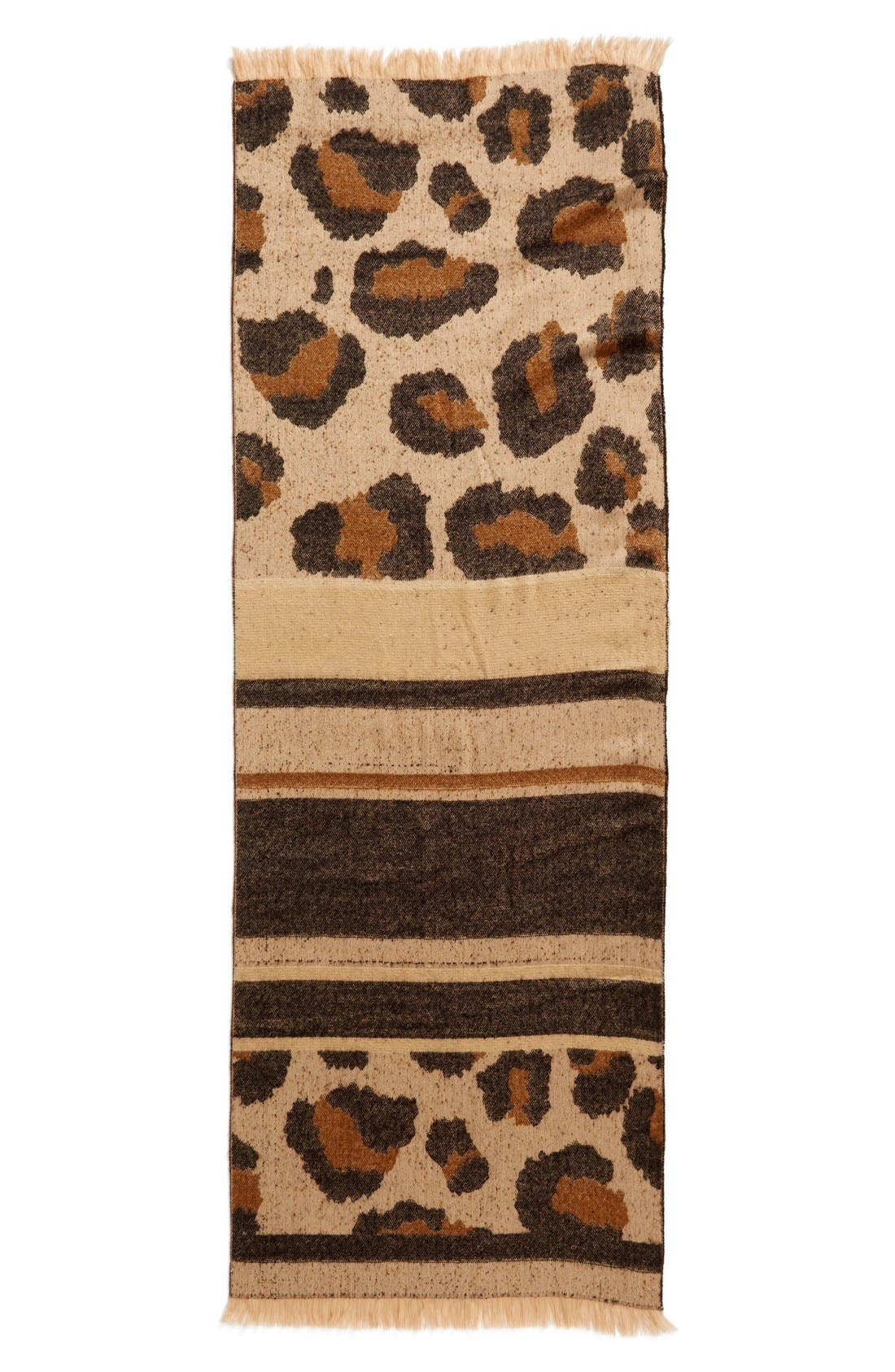 Alternate Image 3  - BP. Mixed Leopard Pattern Scarf
