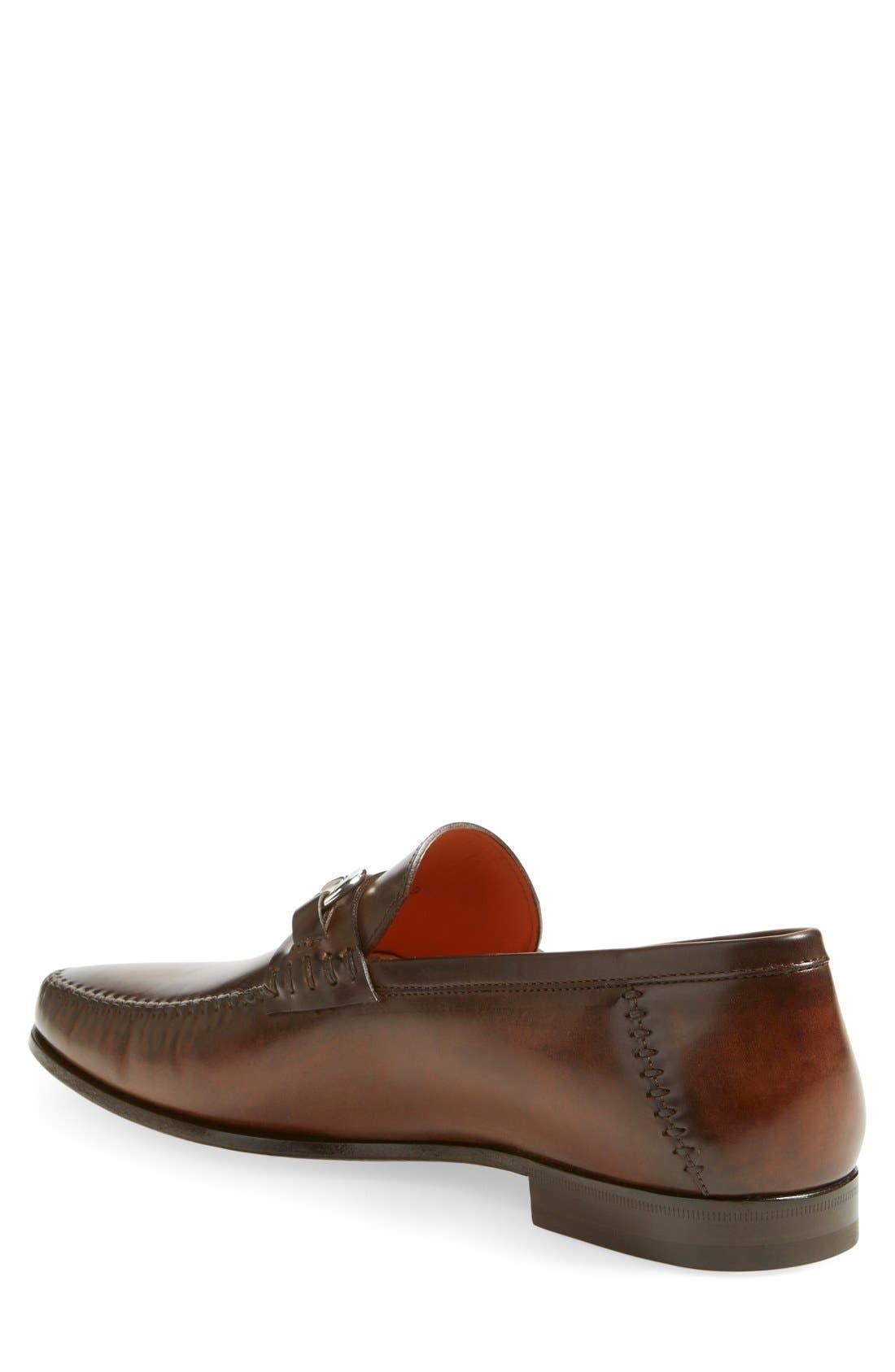 'Egan' Bit Loafer,                             Alternate thumbnail 2, color,                             Brown Leather
