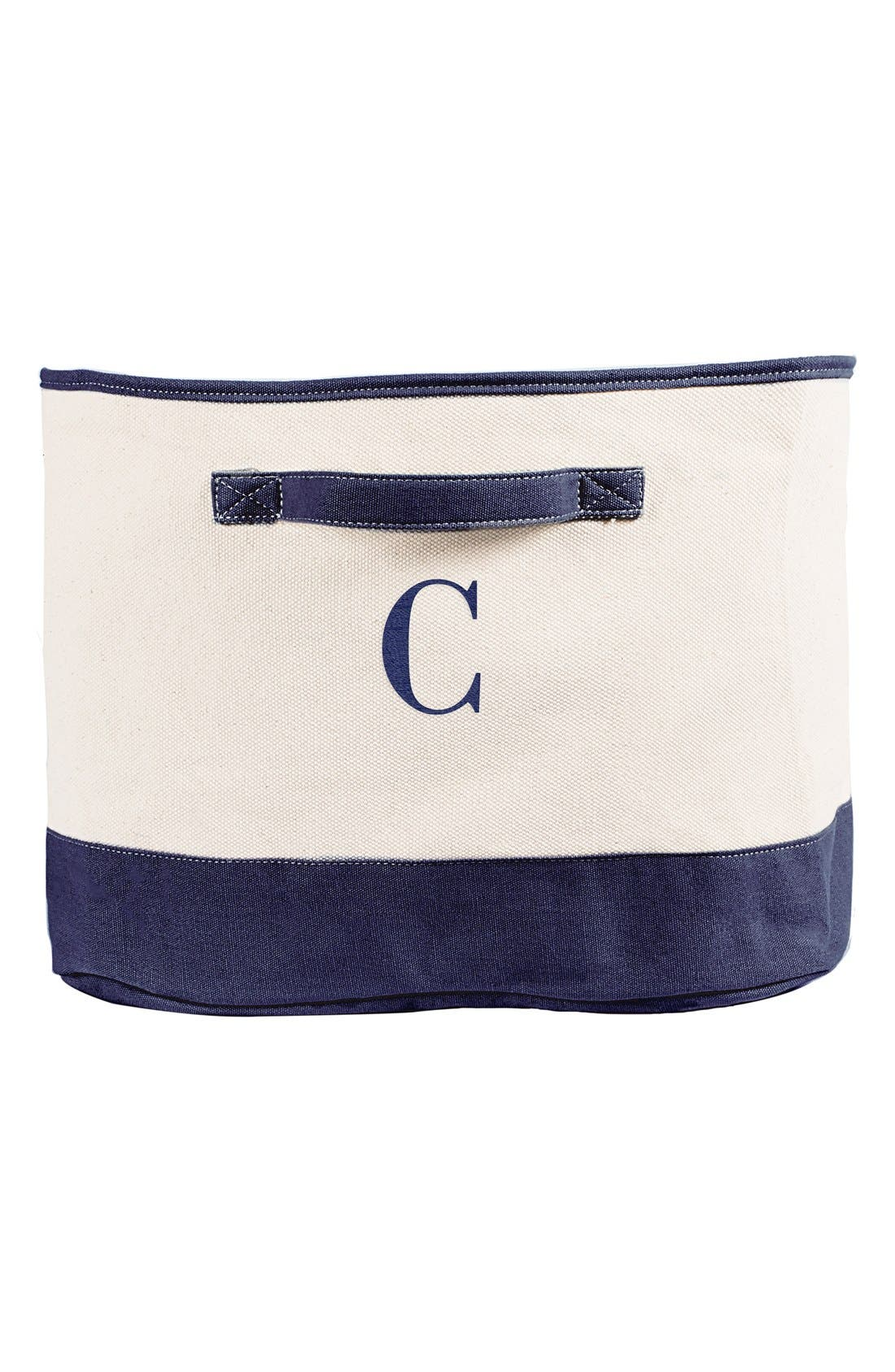 Alternate Image 1 Selected - Cathy's Concepts Monogram Square Canvas Bin
