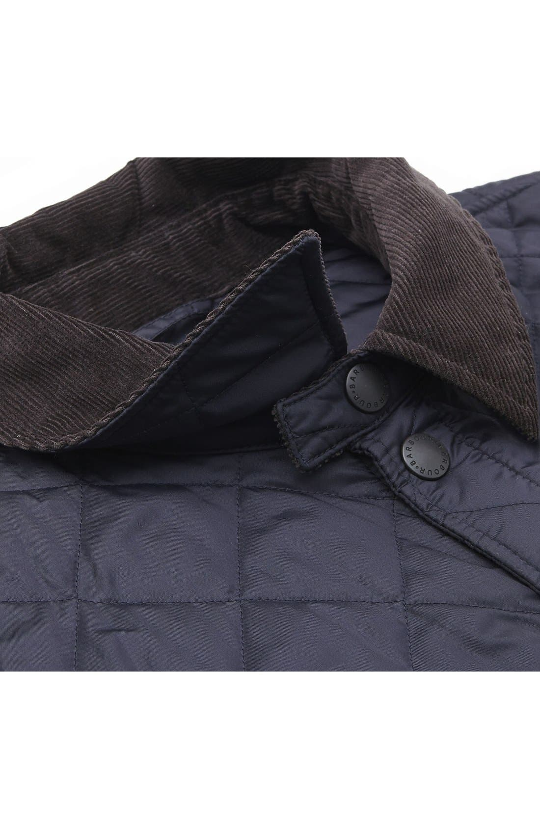 'Tinford' Regular Fit Quilted Jacket,                             Alternate thumbnail 7, color,                             Navy