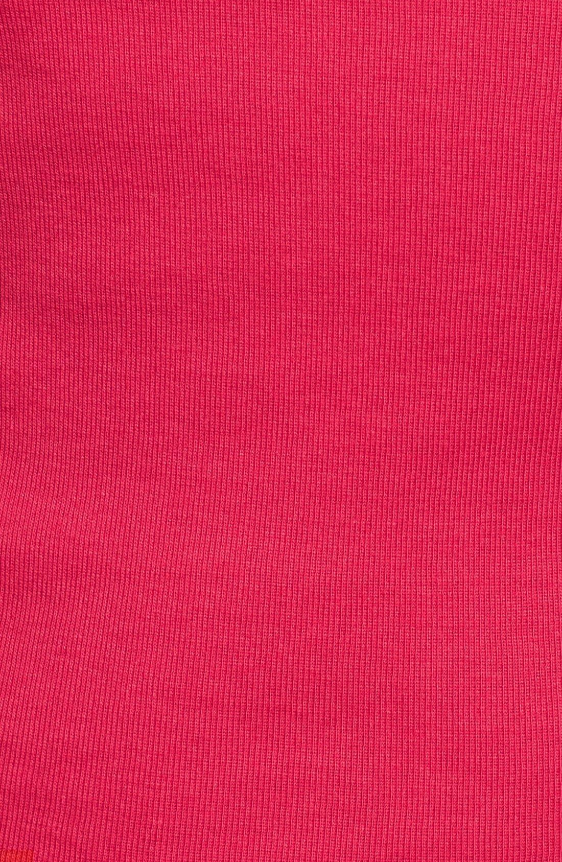 Ballet Neck Cotton & Modal Knit Elbow Sleeve Tee,                             Alternate thumbnail 5, color,                             Red Barberry