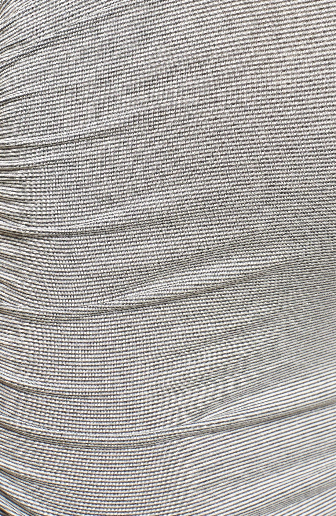 Sleeveless Maternity/Nursing Dress,                             Alternate thumbnail 5, color,                             Charcoal Microstripe