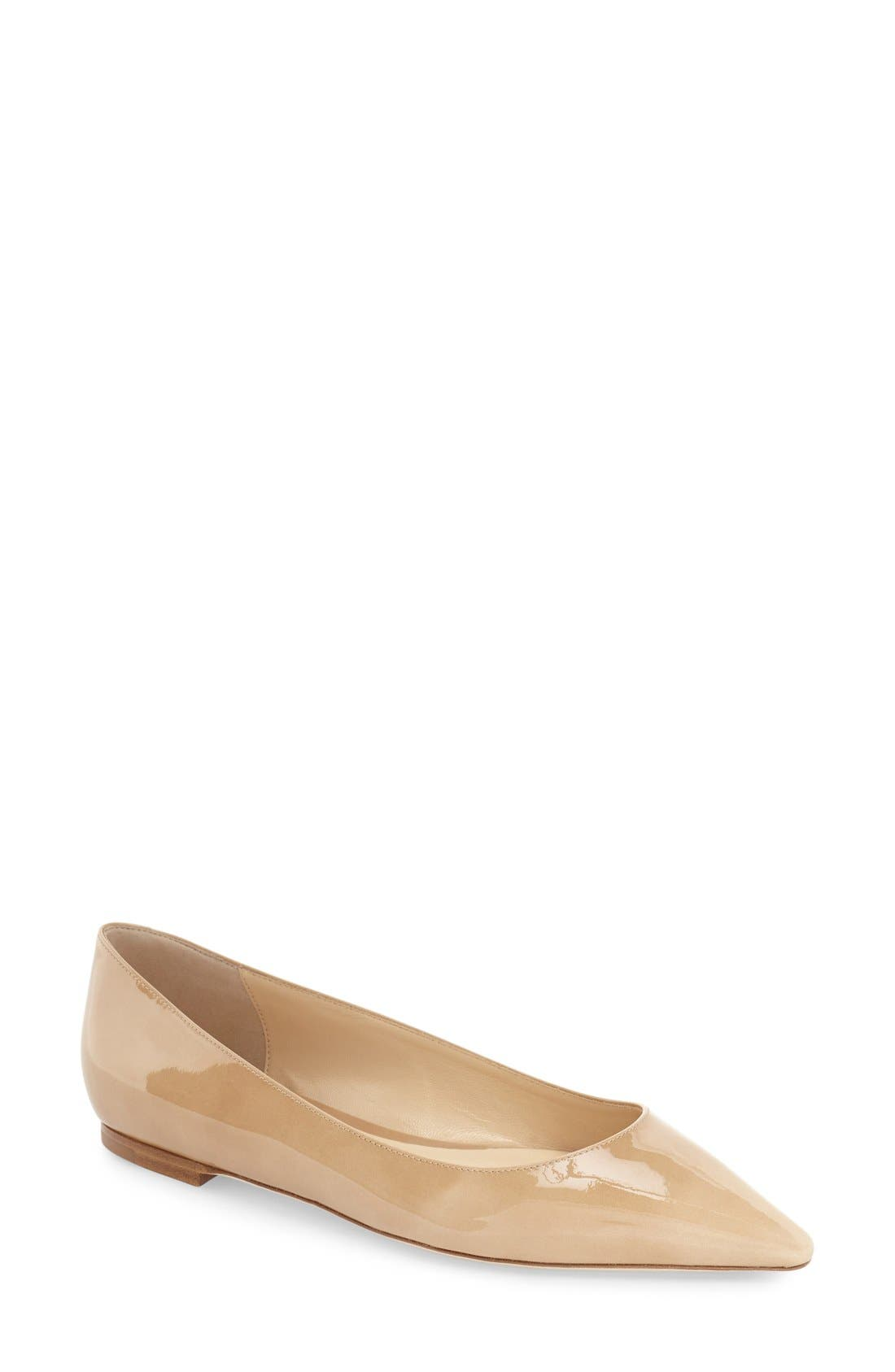 Main Image - Jimmy Choo 'Romy' Pointy Toe Flat (Women)