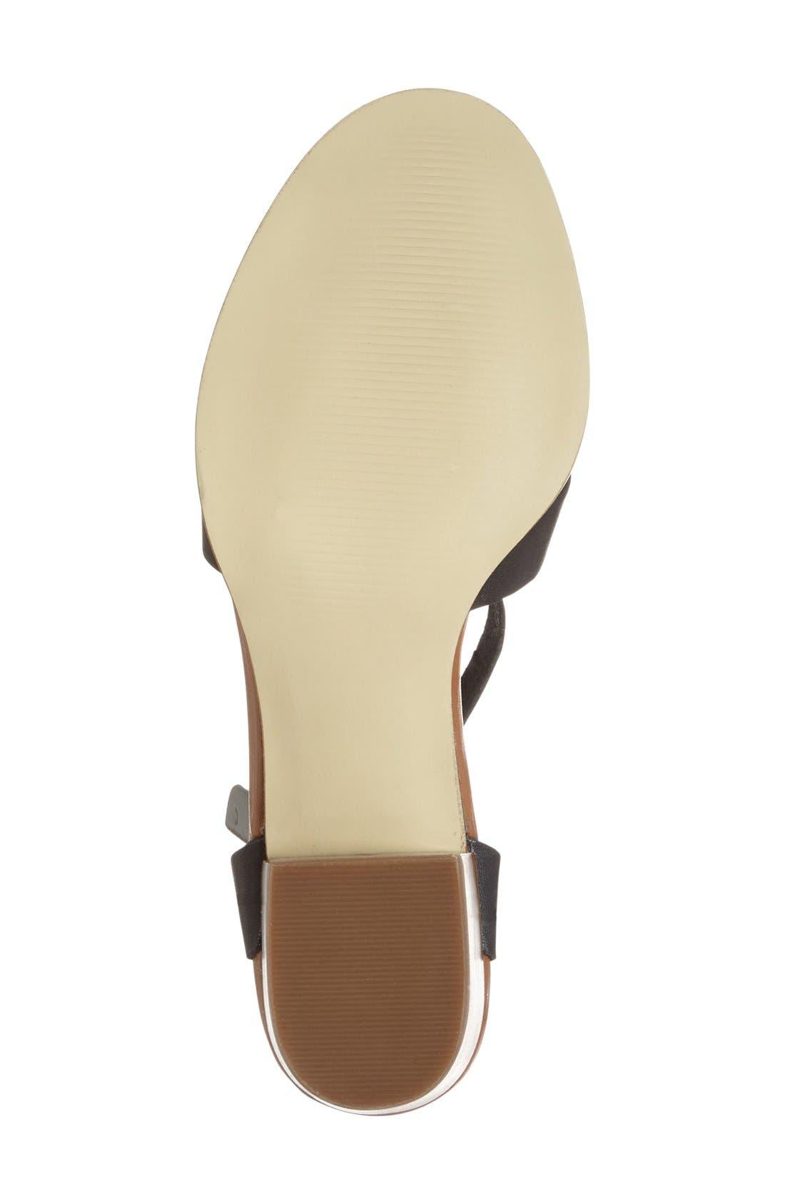'Savannah' Sandal,                             Alternate thumbnail 4, color,                             Black