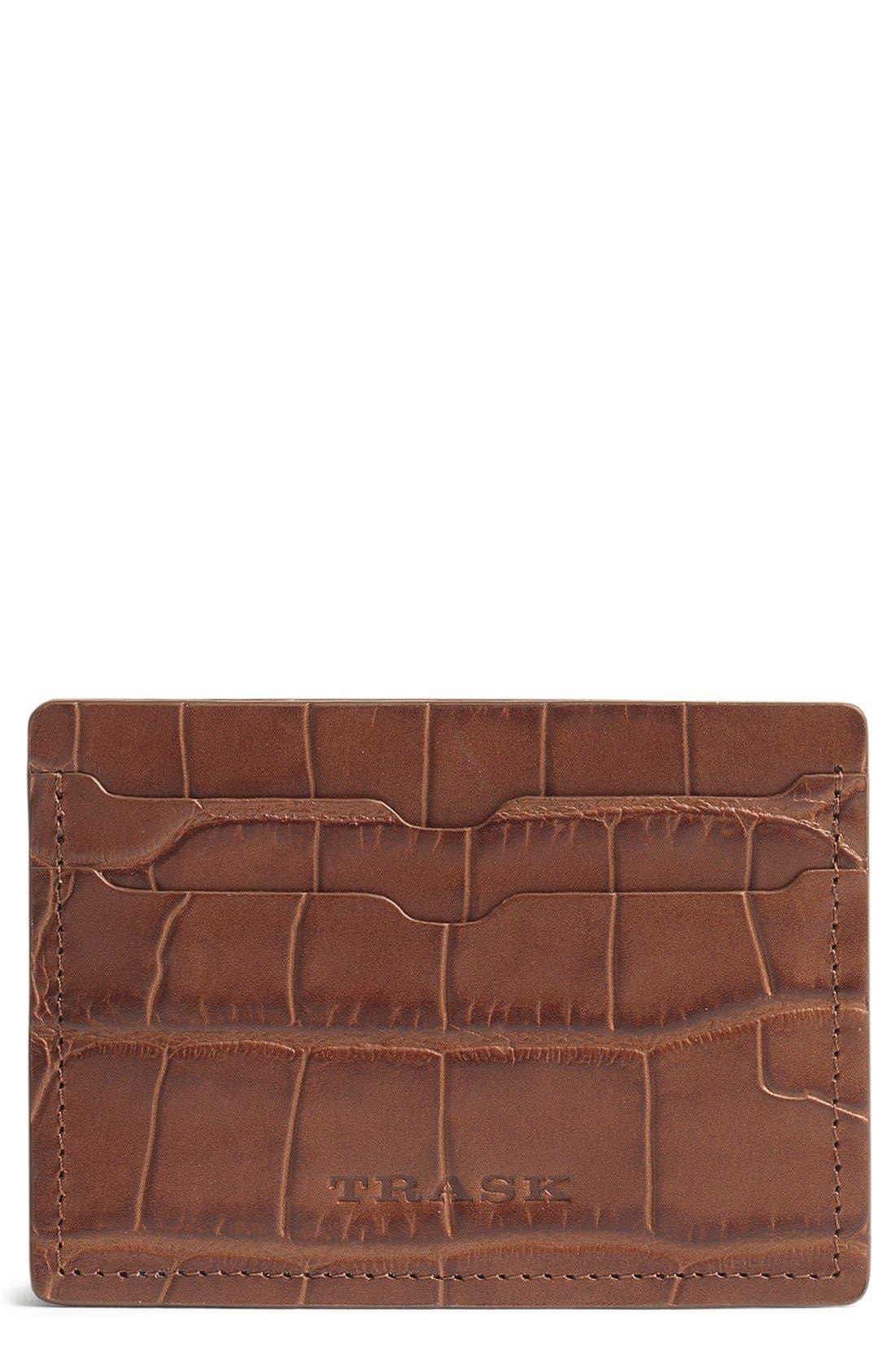 'Jackson' Leather Card Case,                         Main,                         color, Scotch