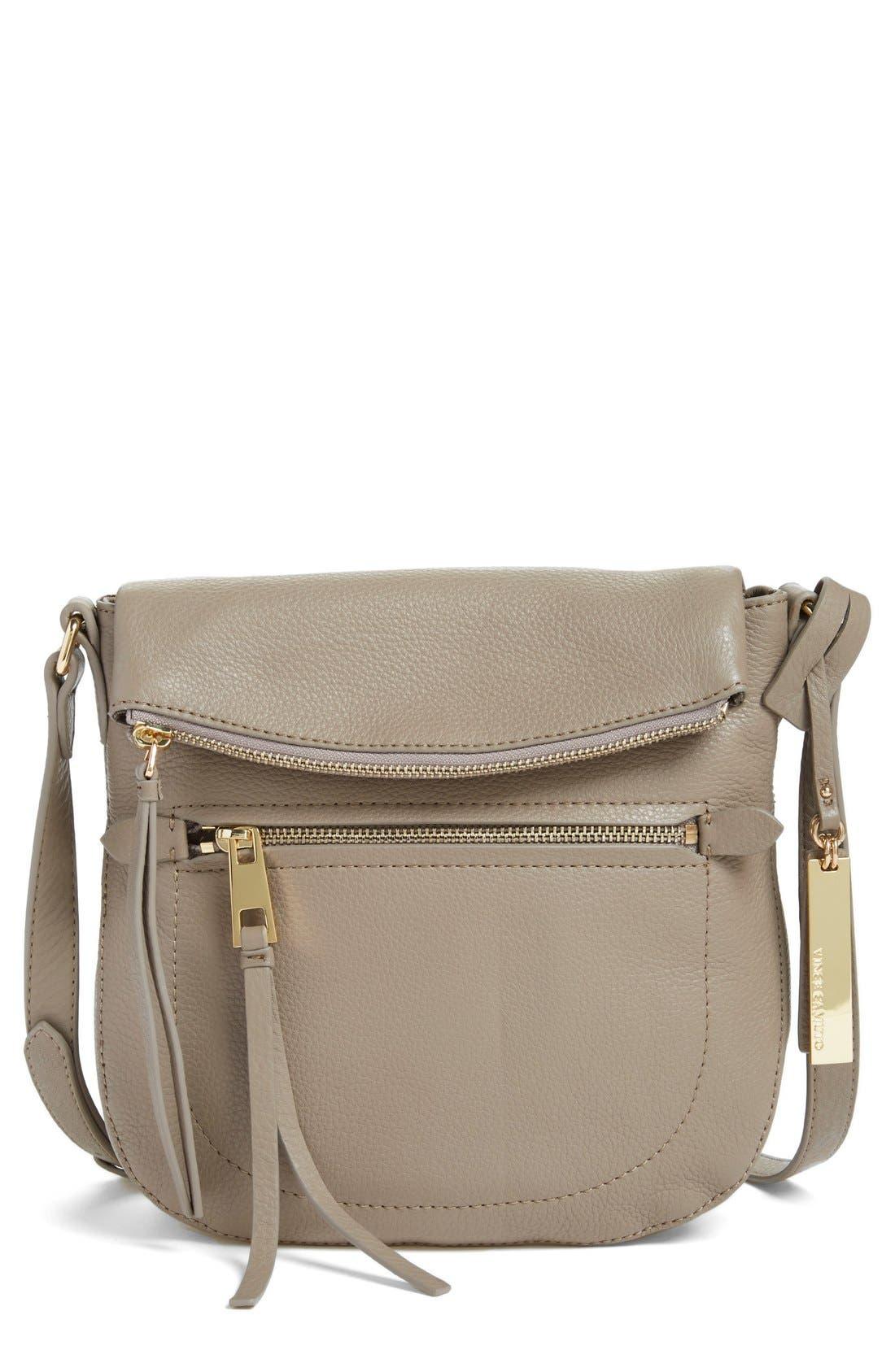 'Tala' Leather Crossbody Bag,                             Main thumbnail 1, color,                             Smokey Quart