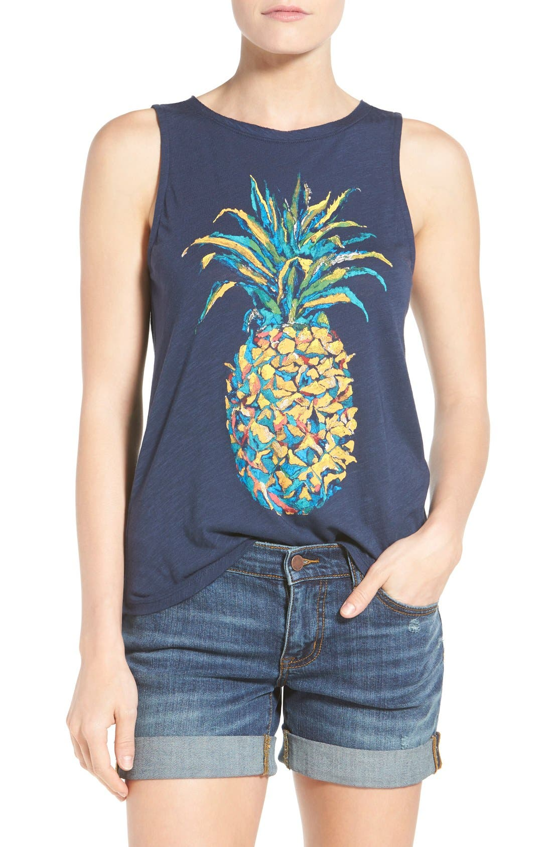 Alternate Image 1 Selected - Lucky Brand Pineapple Graphic Tank