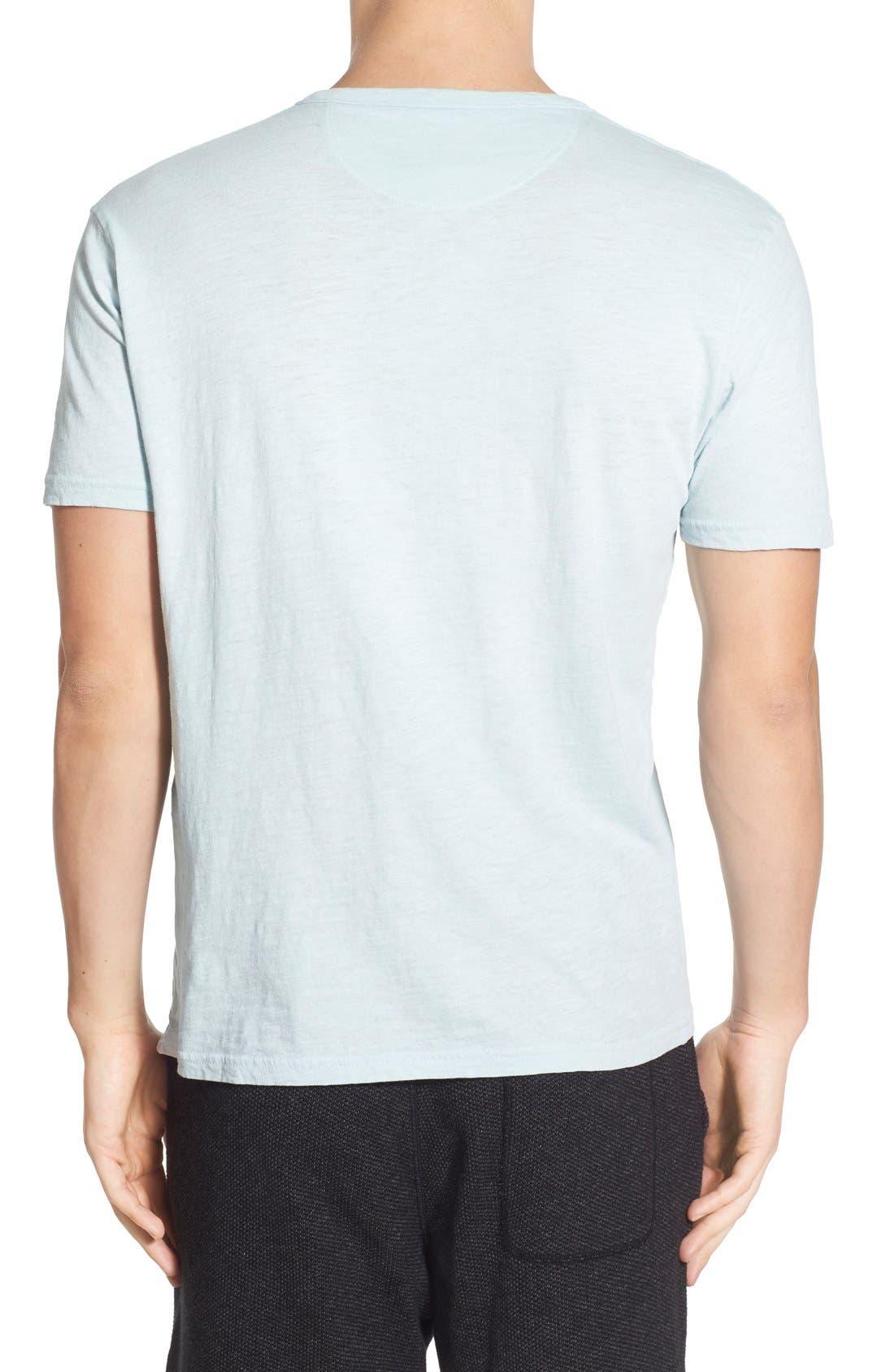 Alternate Image 2  - Lucky Brand Notch Short Sleeve Henley T-Shirt