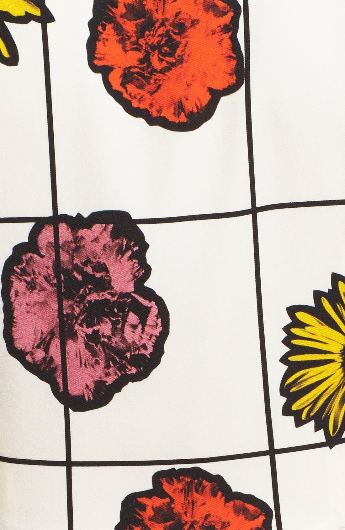 Alternate Image 3  - Moschino Floral & Grid Print Wool Blend Dress