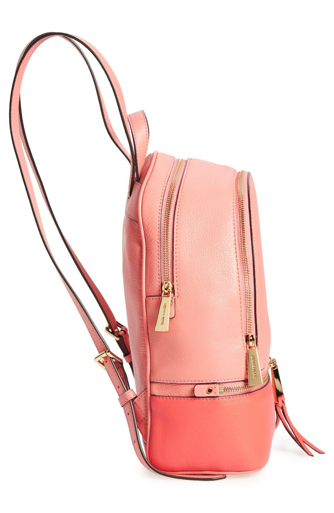 Alternate Image 5  - MICHAEL Michael Kors 'Small Rhea' Colorblock Leather Backpack