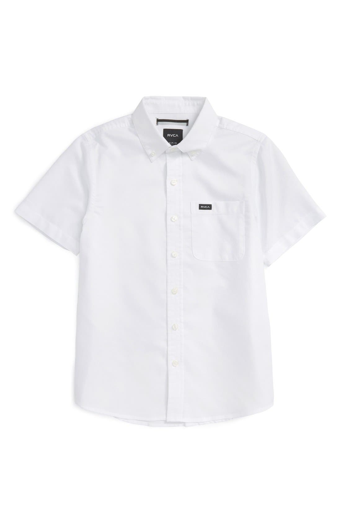 RVCA 'That'll Do' Woven Shirt (Big Boys)