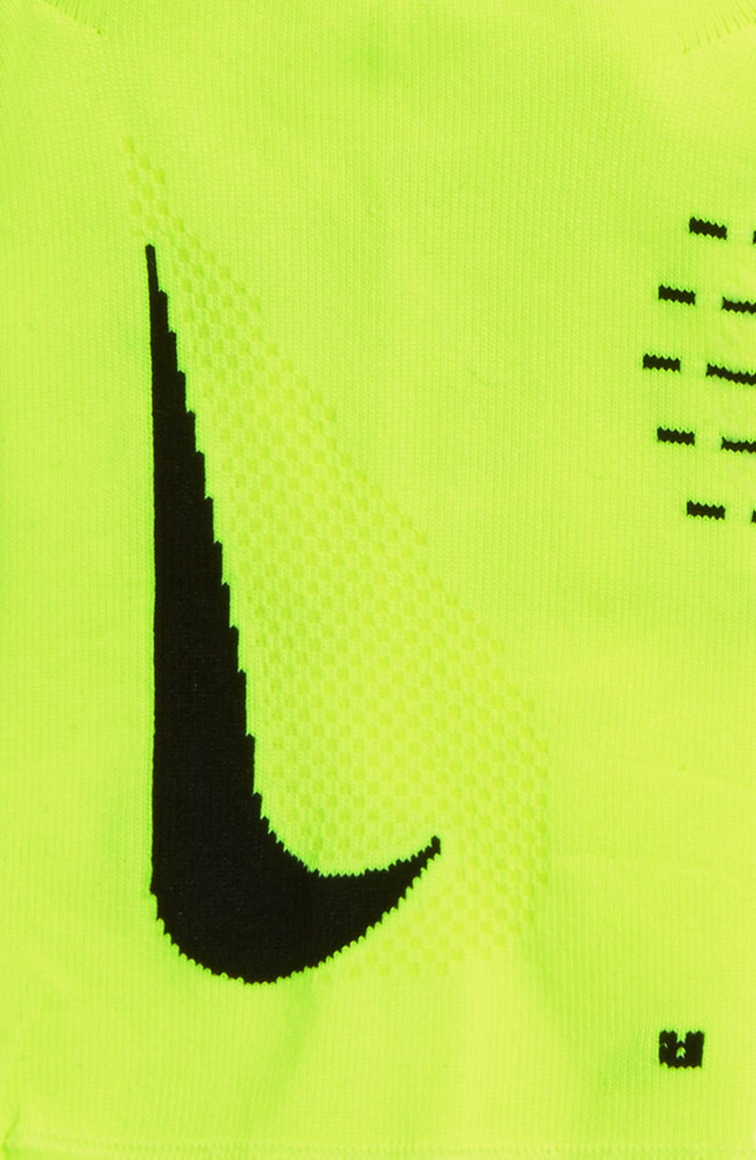 'Elite' Lightweight No-Show Tab Running Socks,                             Alternate thumbnail 4, color,                             Volt/ Black