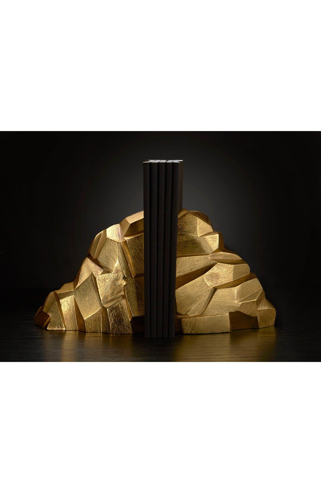 'Rock' Bookends,                             Alternate thumbnail 2, color,                             Gold