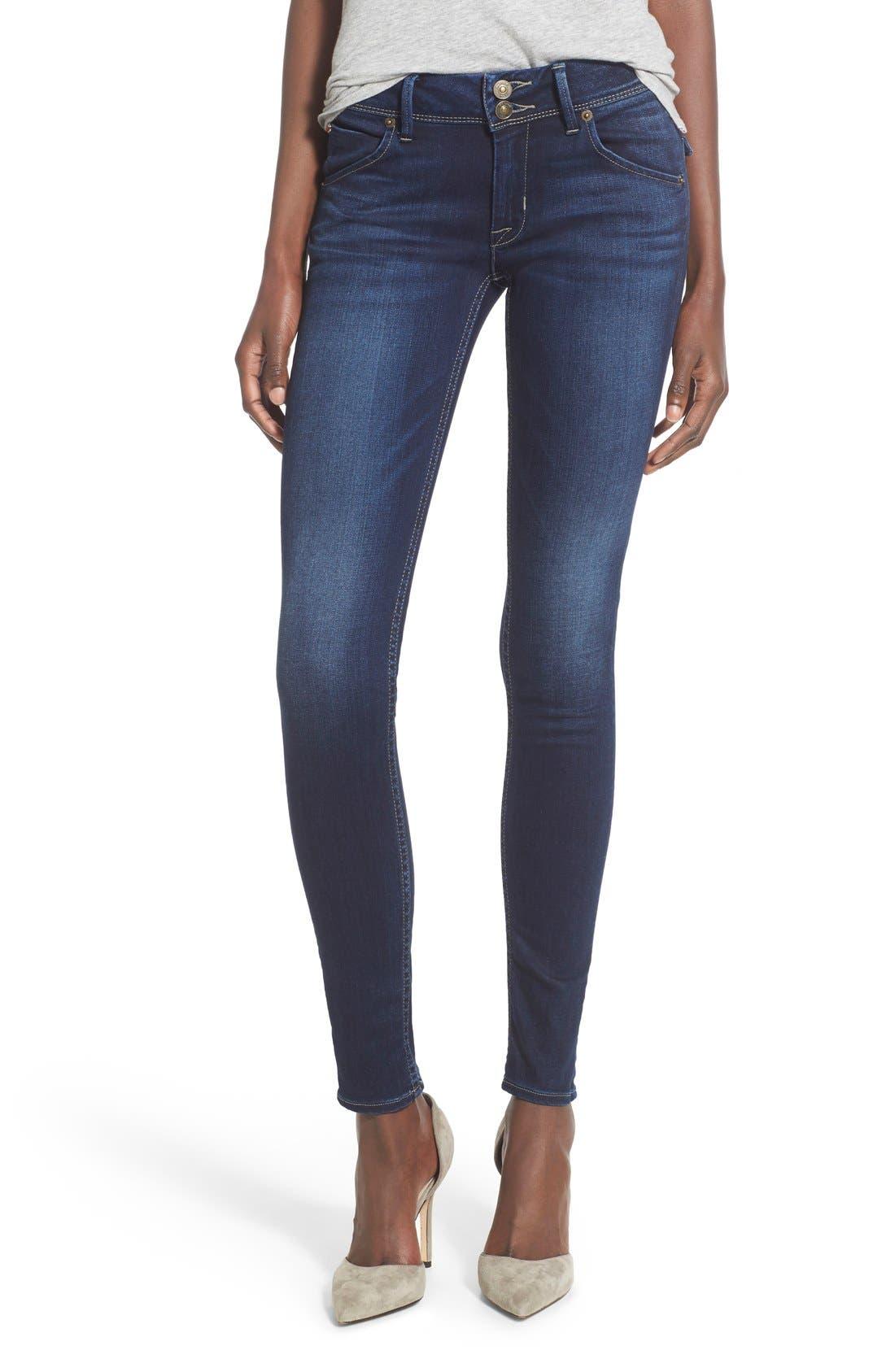 Main Image - Hudson Jeans 'Elysian - Collin' Mid Rise Skinny Jeans (Crest Falls)
