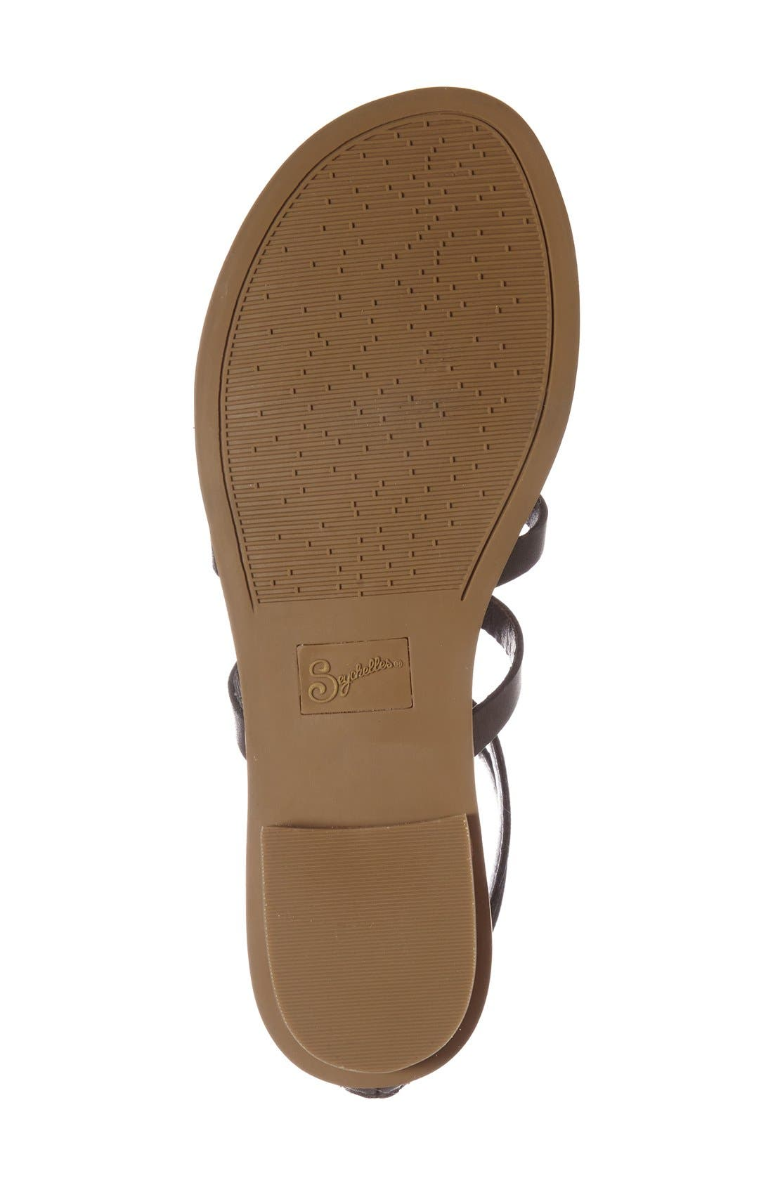 Alternate Image 4  - Seychelles 'Peachy' Gladiator Flat Sandal (Women)