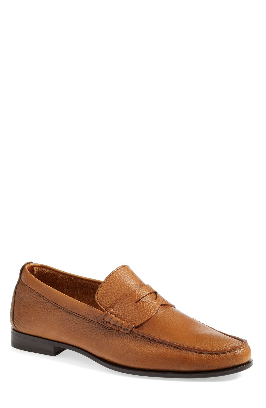 'Carmel' Penny Loafer,                             Main thumbnail 1, color,                             Tan Leather