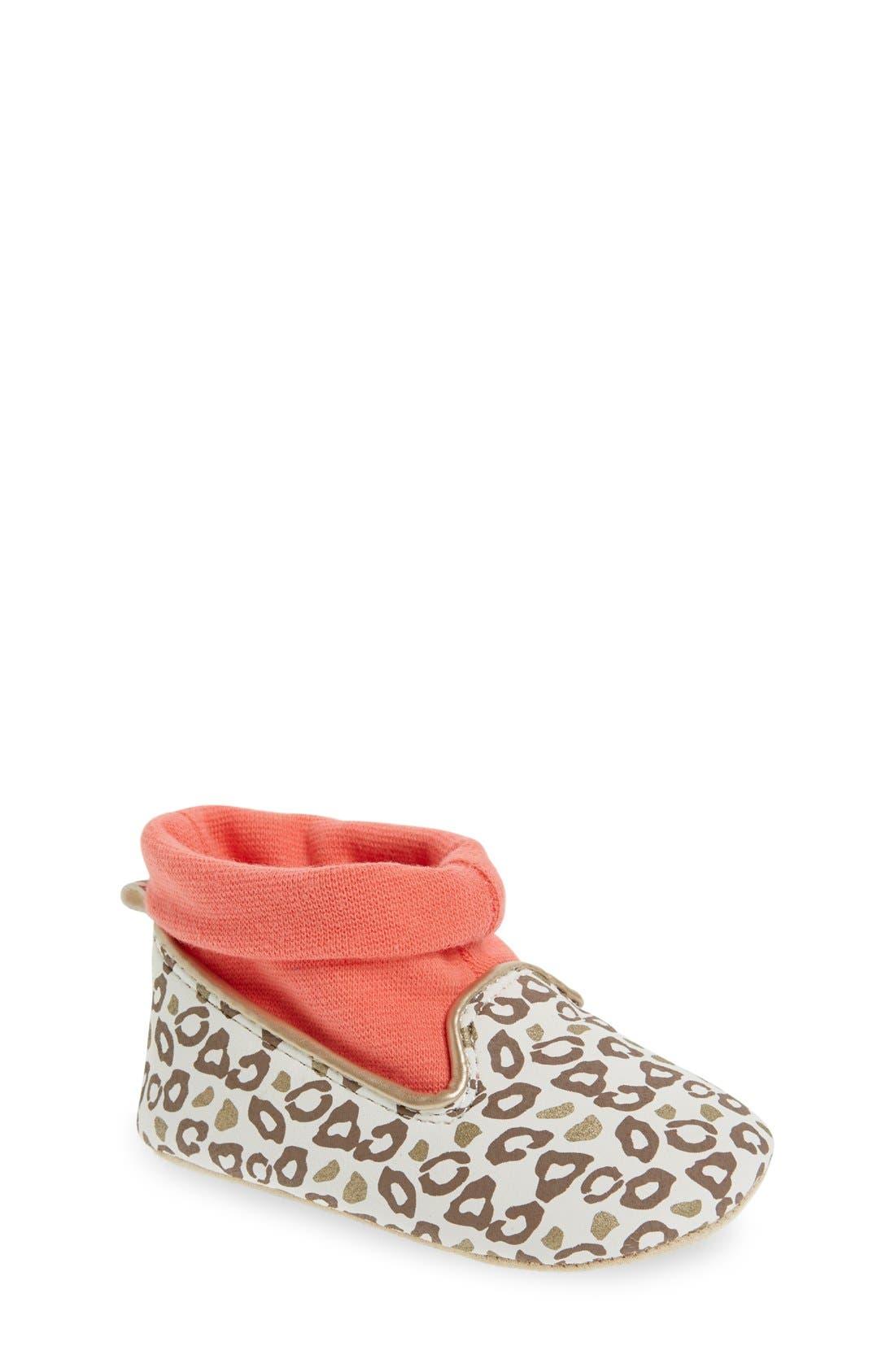 Main Image - Rosie Pope 'Playful Leopard' Crib Shoe (Baby)