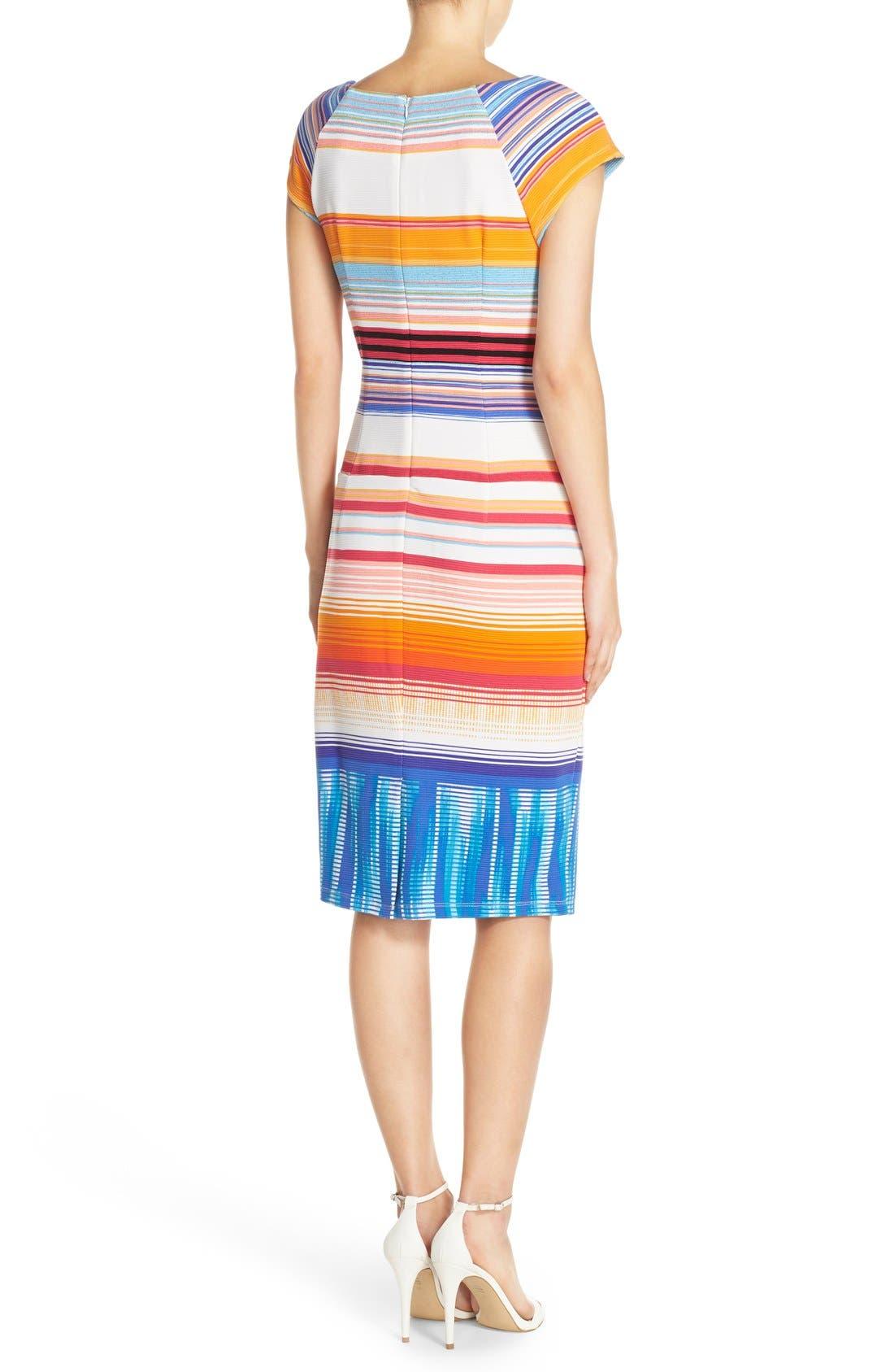 Alternate Image 2  - ECI Stripe Knit Midi Dress