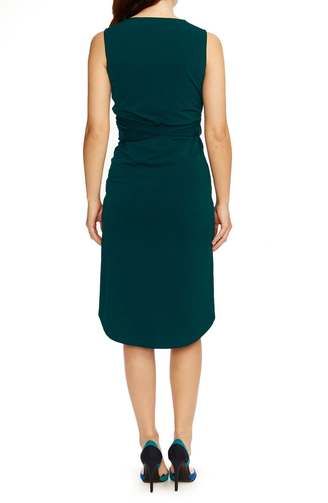 'Calla' Maternity Dress,                             Alternate thumbnail 2, color,                             Emerald