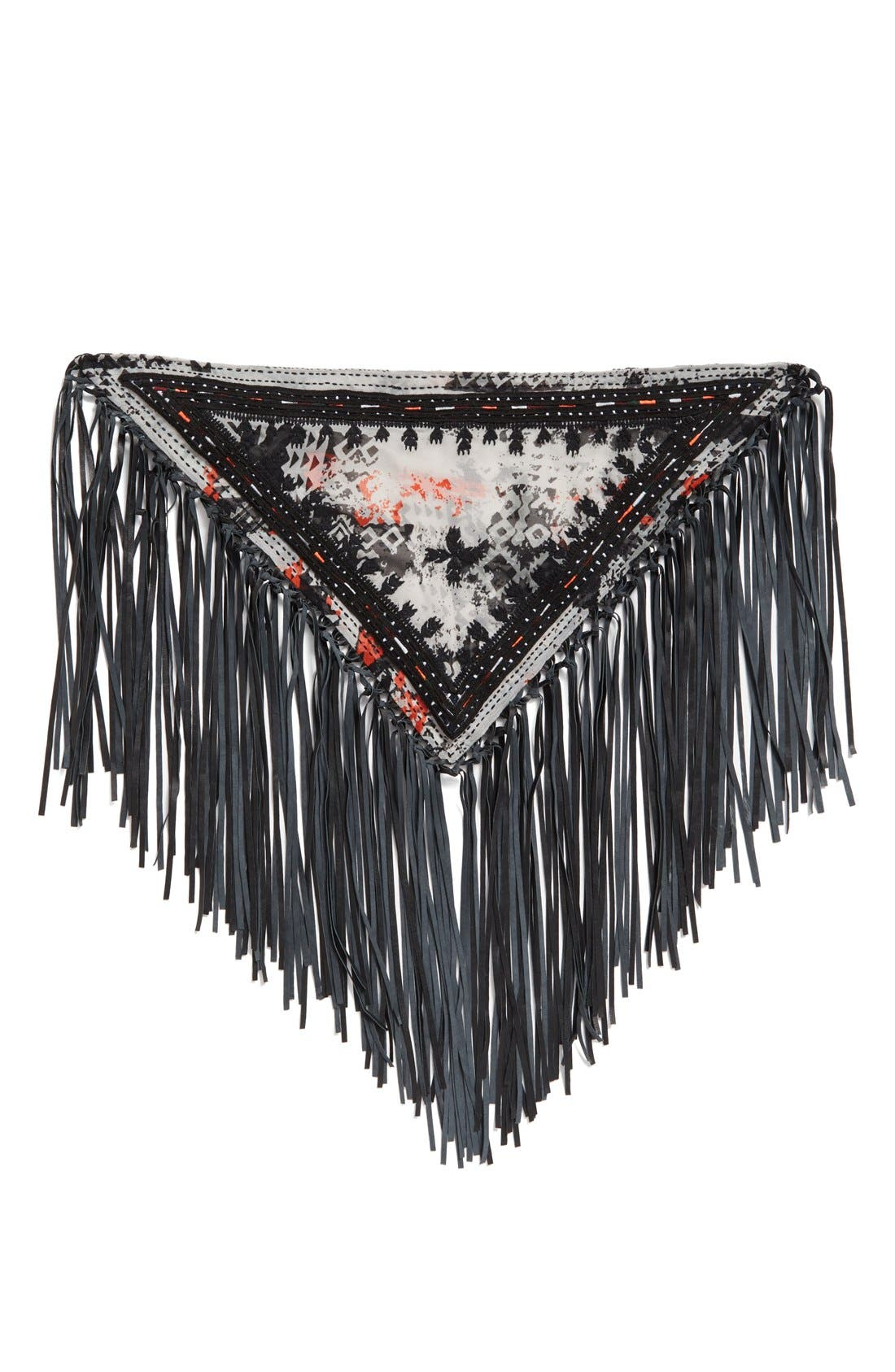 Alternate Image 2  - Steve Madden Leather Fringe Neckerchief