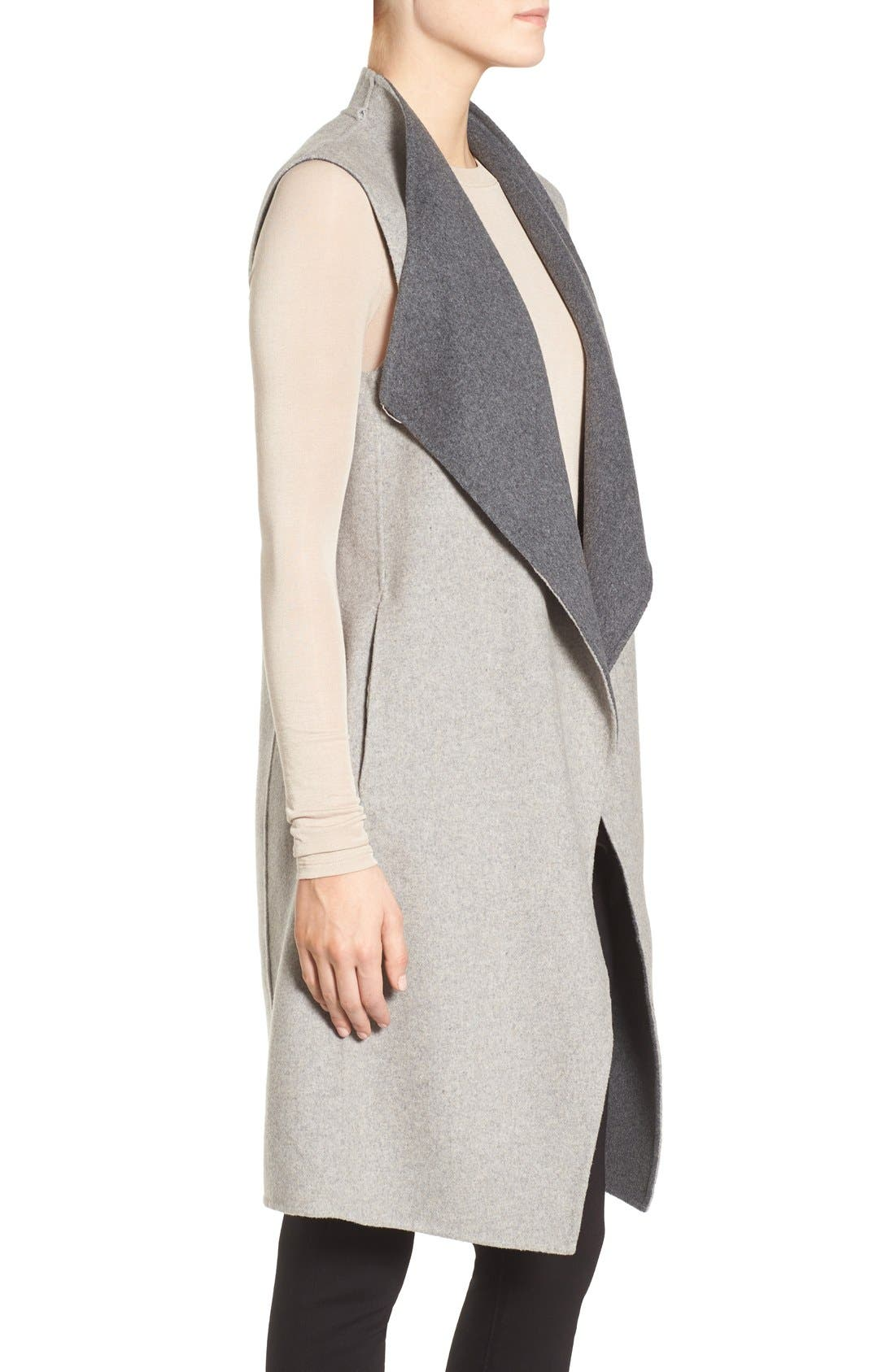 Alternate Image 4  - Soia & Kyo Double-Face Wool Blend Vest
