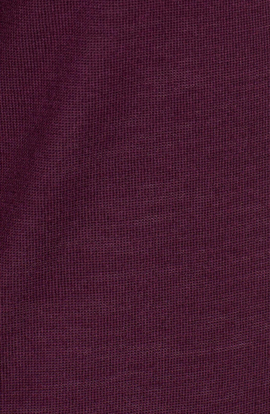 Alternate Image 5  - Halogen® V-Neck Lightweight Merino Cardigan (Petite)