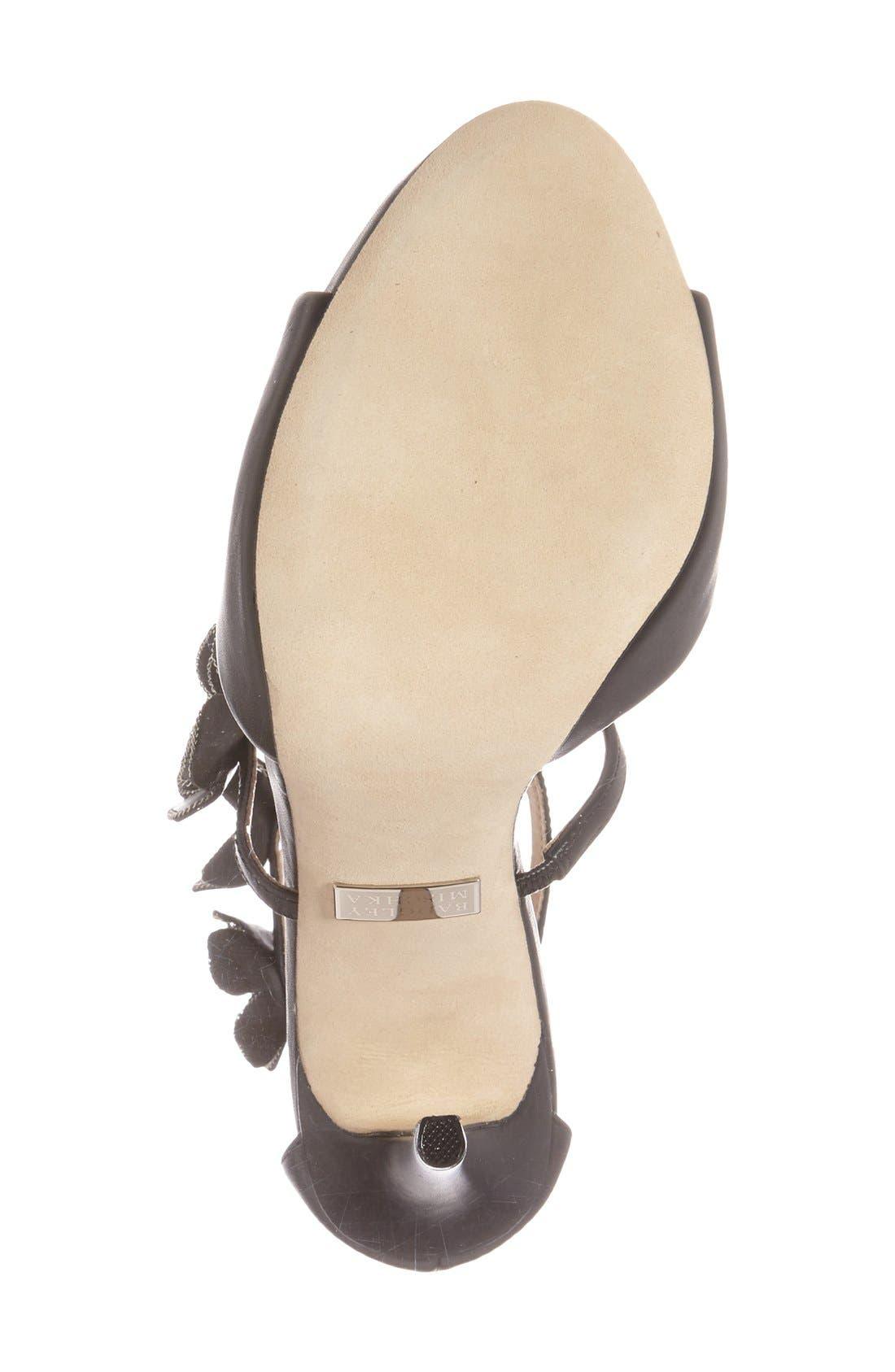Alternate Image 4  - Badgley Mischka 'Langley' Floral Appliqué Sandal (Women)