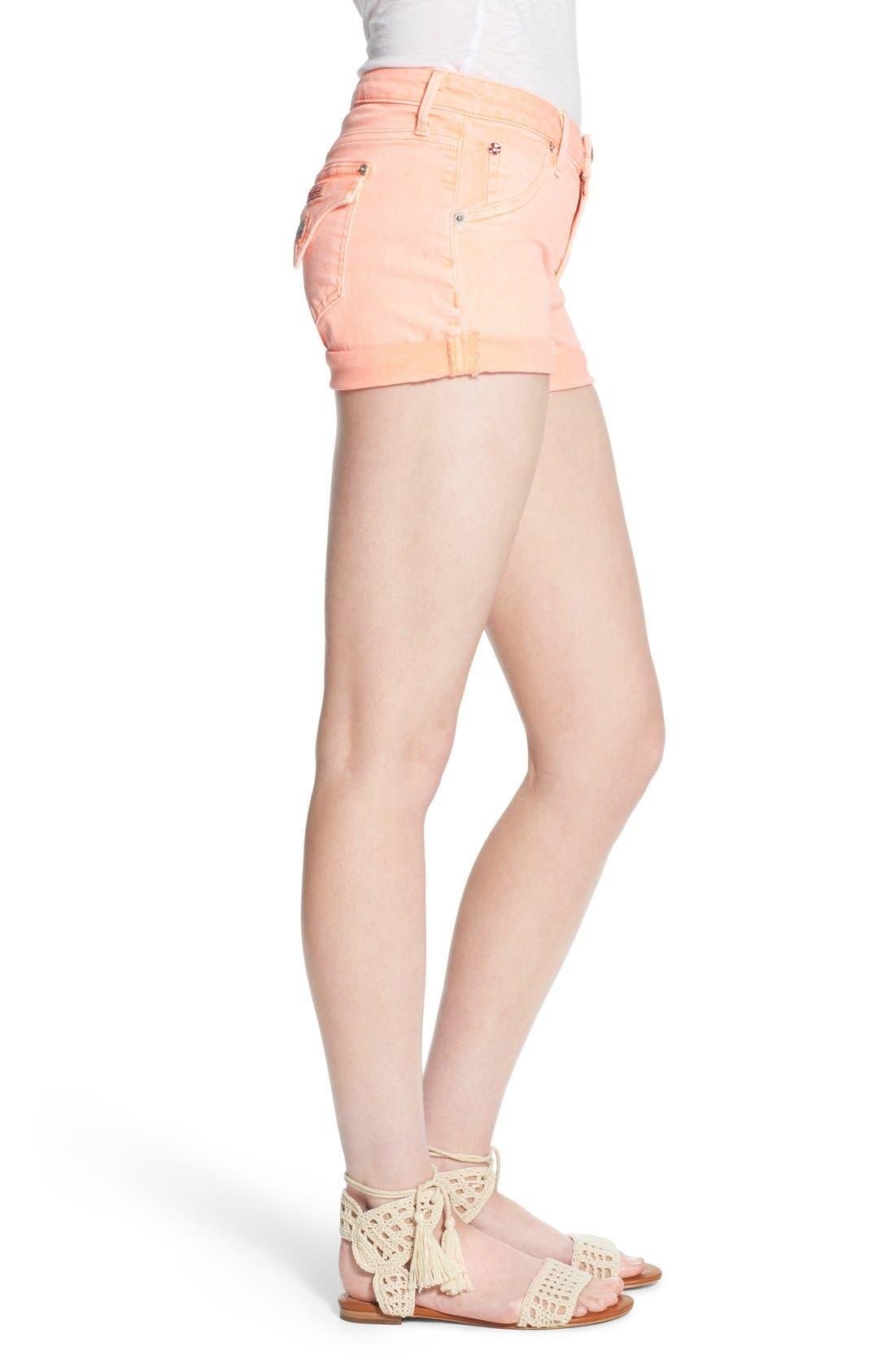 Alternate Image 3  - Hudson Jeans 'Hampton' Cuffed Denim Shorts (Luminous Orange)