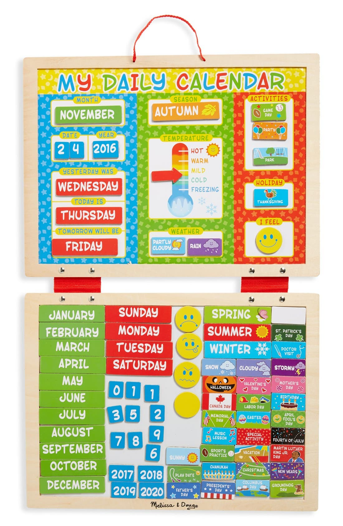 Daily Magnet Calendar,                         Main,                         color, Multi