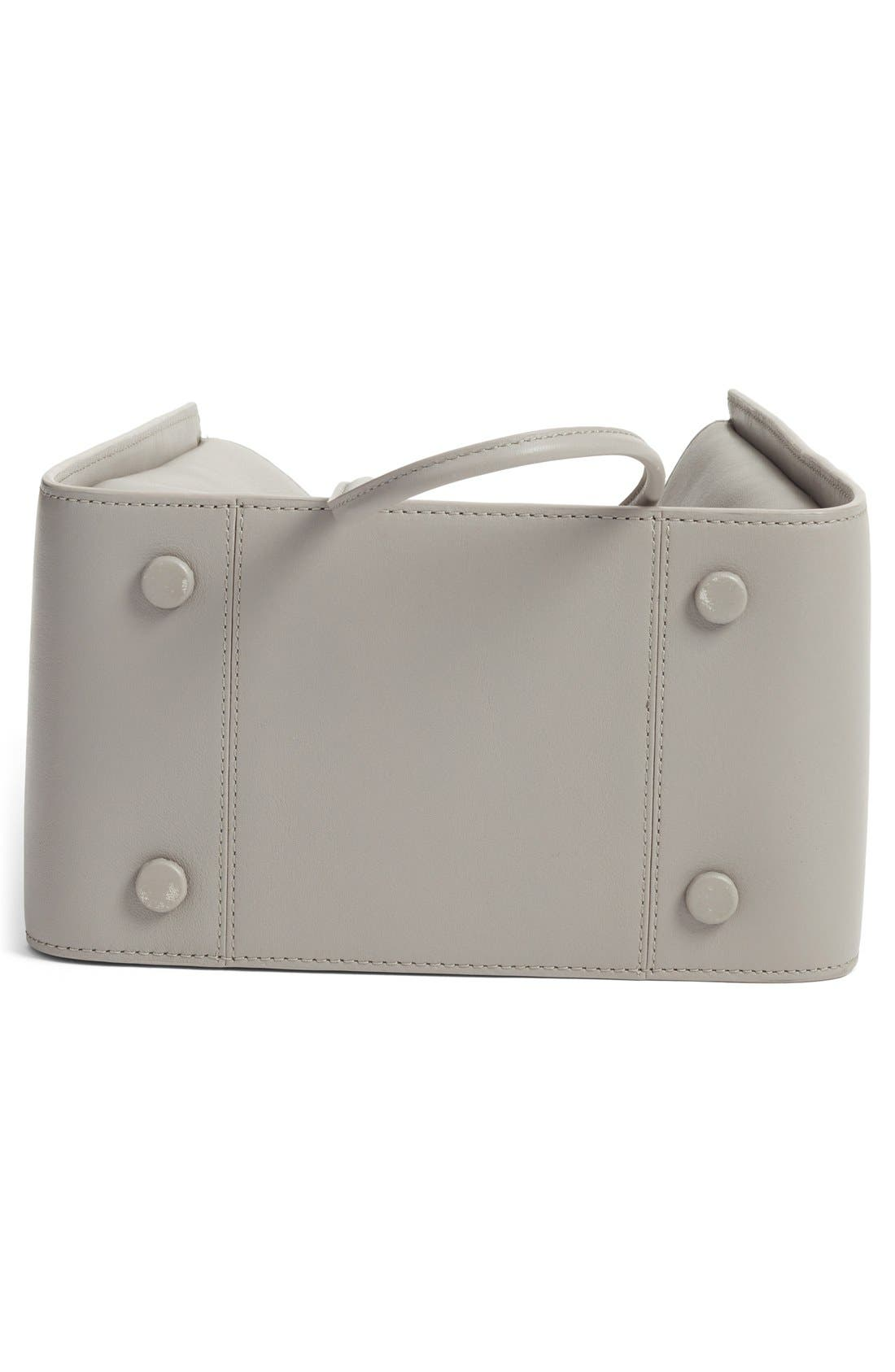 Small Soleil Leather Bucket Bag,                             Alternate thumbnail 5, color,                             Cement
