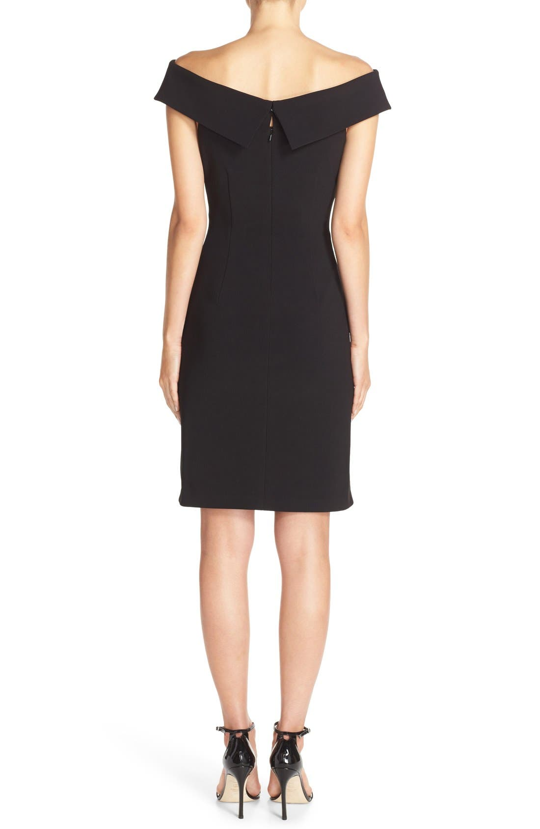 Alternate Image 2  - Vince Camuto Off the Shoulder Crepe Sheath Dress