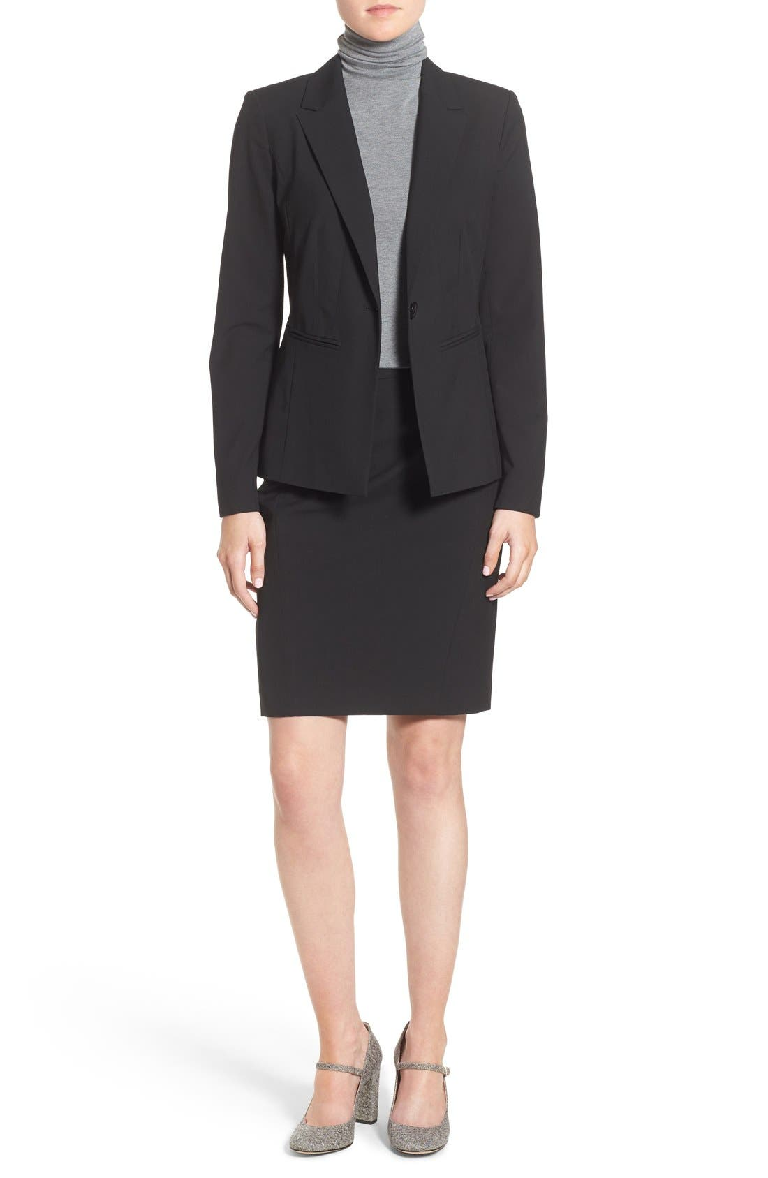 Alternate Image 2  - Halogen® Ela Suit Skirt (Regular & Petite)