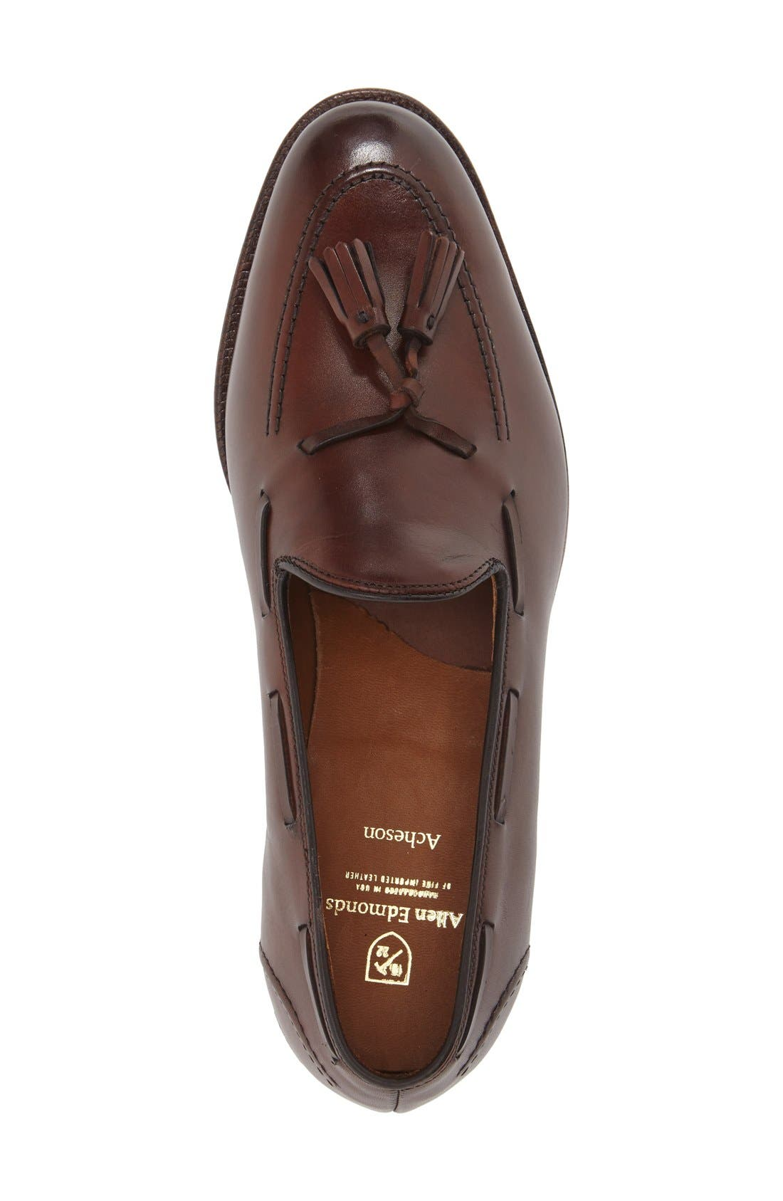 'Acheson' Tassel Loafer,                             Alternate thumbnail 3, color,                             Dark Chili Burnished