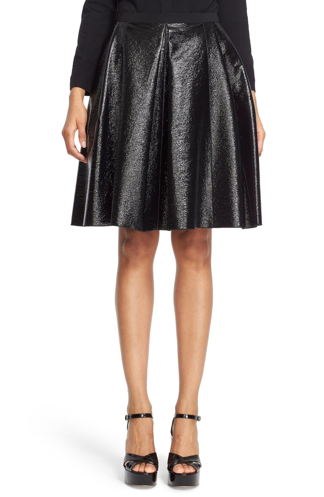 Alternate Image 1 Selected - MARC JACOBS Pleated A-Line Skirt