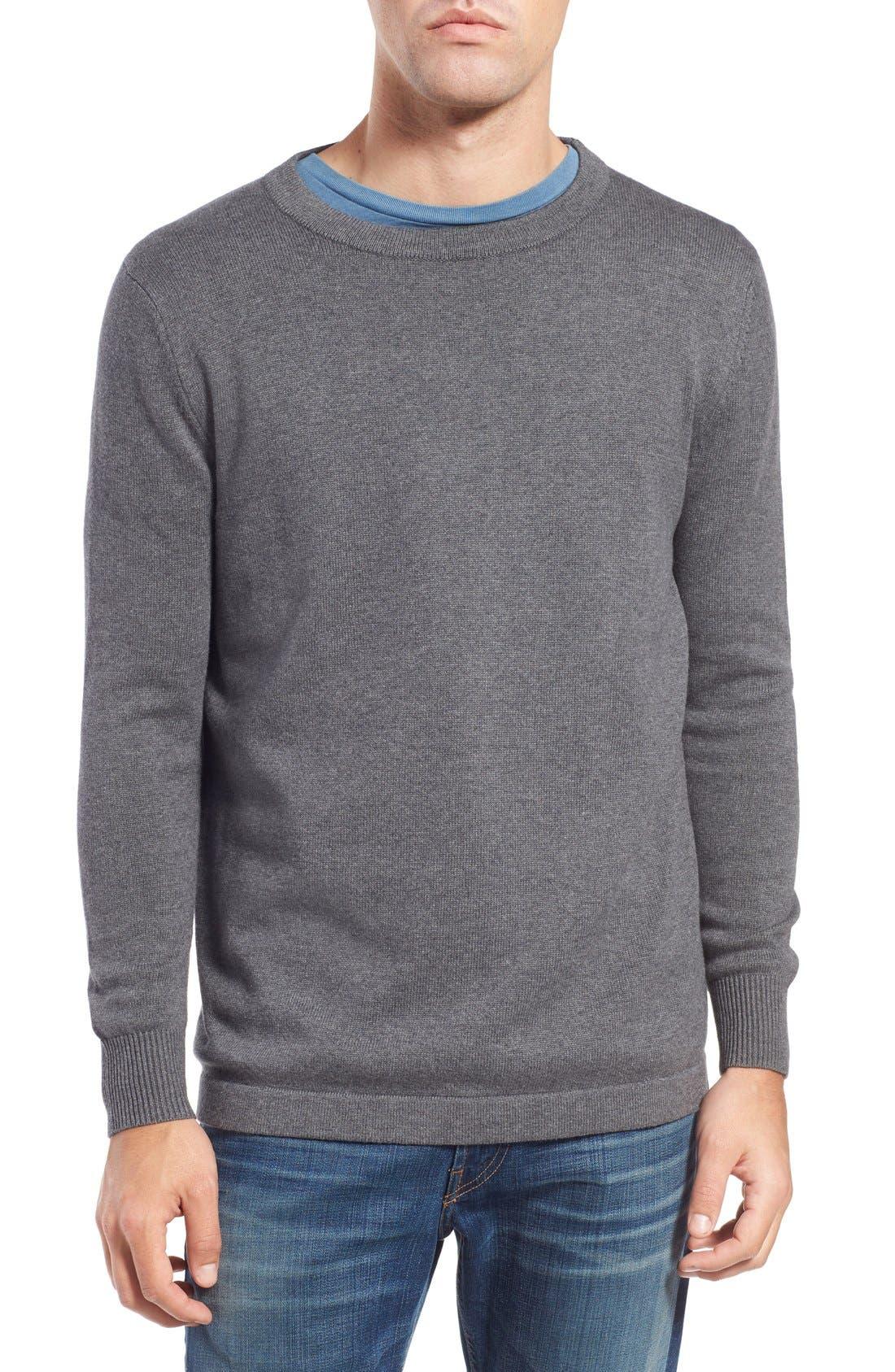 'San Francisco' Crewneck Sweater,                         Main,                         color, Ash