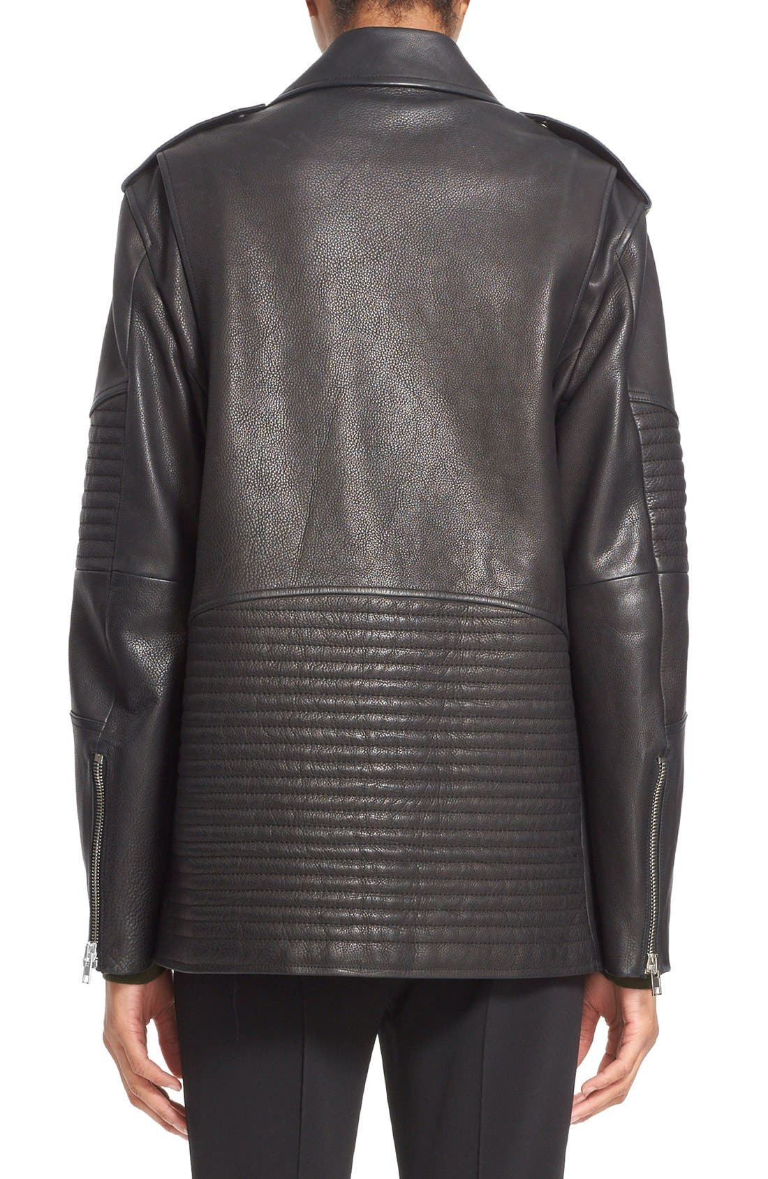 Alternate Image 2  - Alexander Wang Leather Moto Jacket