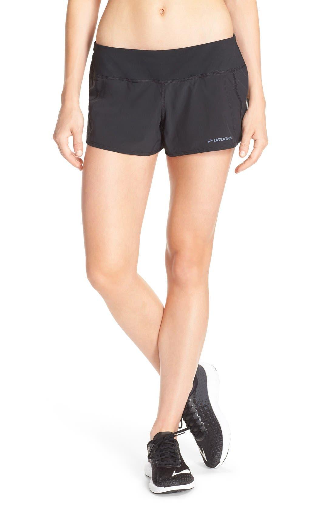 'Chaser 3' Running Shorts,                             Main thumbnail 1, color,                             Black